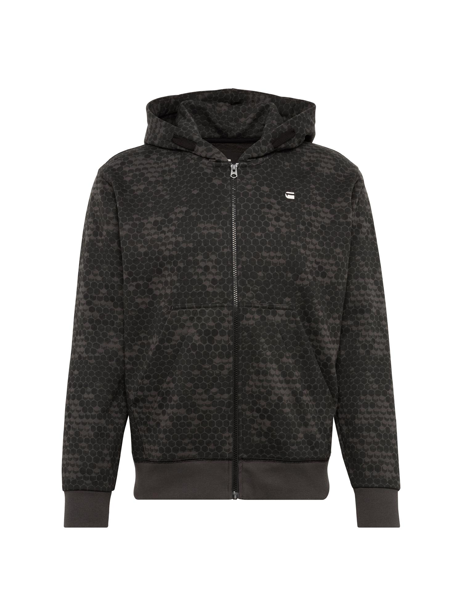 G-STAR RAW Heren Sweatvest Core hoc hooded zip sw l s zwart