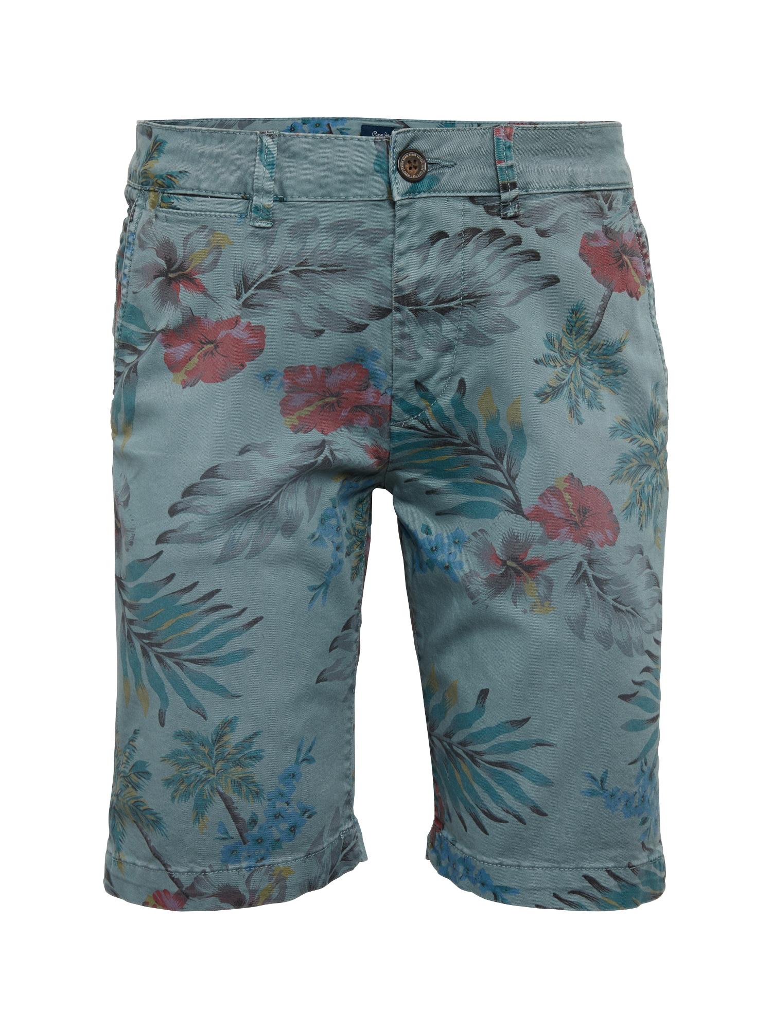 Pepe Jeans Heren Chino MC QUEEN SHORT HAWAIIAN smoky blue gemengde kleuren