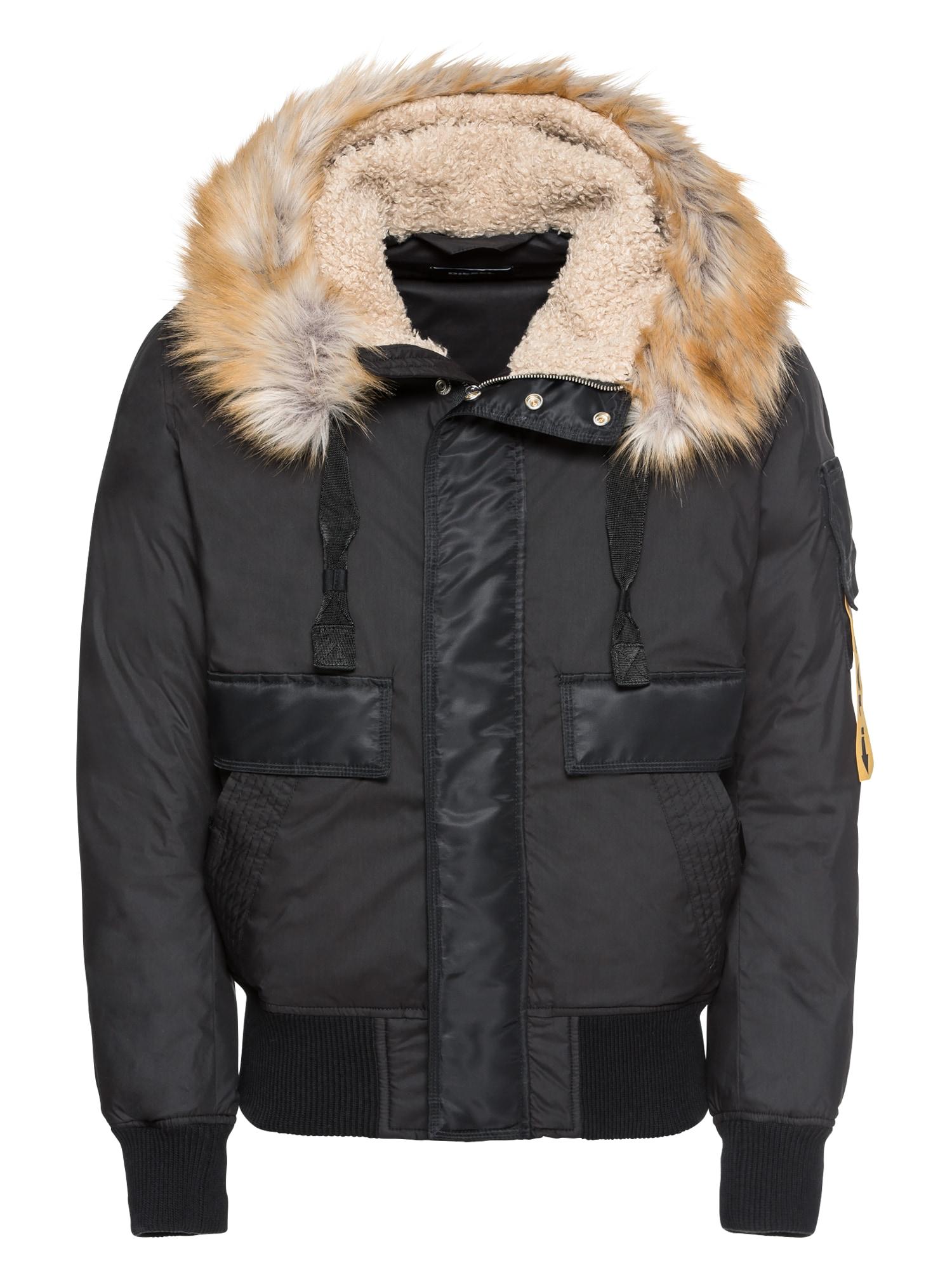 Zimní bunda W-BURKE JACKE černá DIESEL