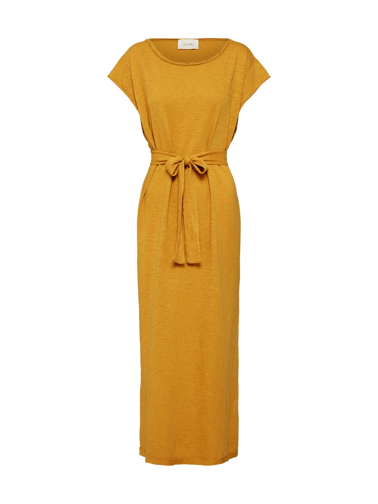 Šaty Bysapick zlatě žlutá AMERICAN VINTAGE