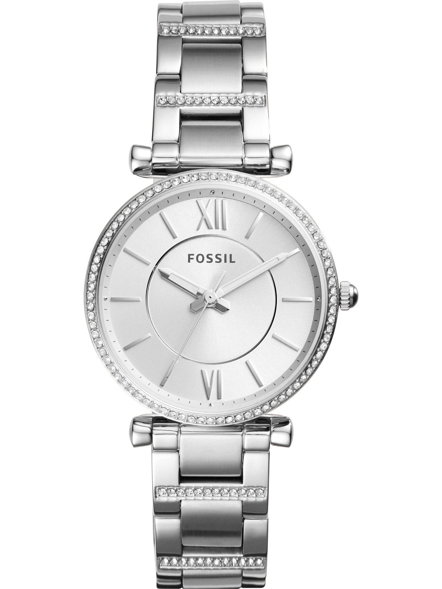 Analogové hodinky Carlie stříbrná FOSSIL