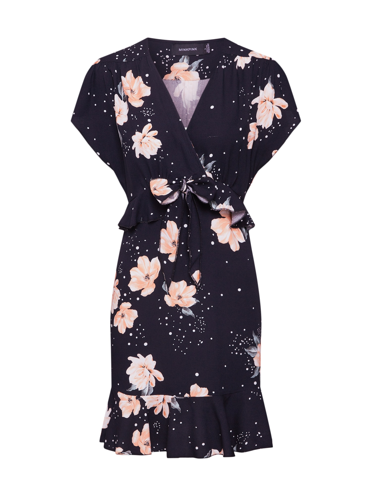 Šaty TANGERINE DREAM broskvová černá MINKPINK