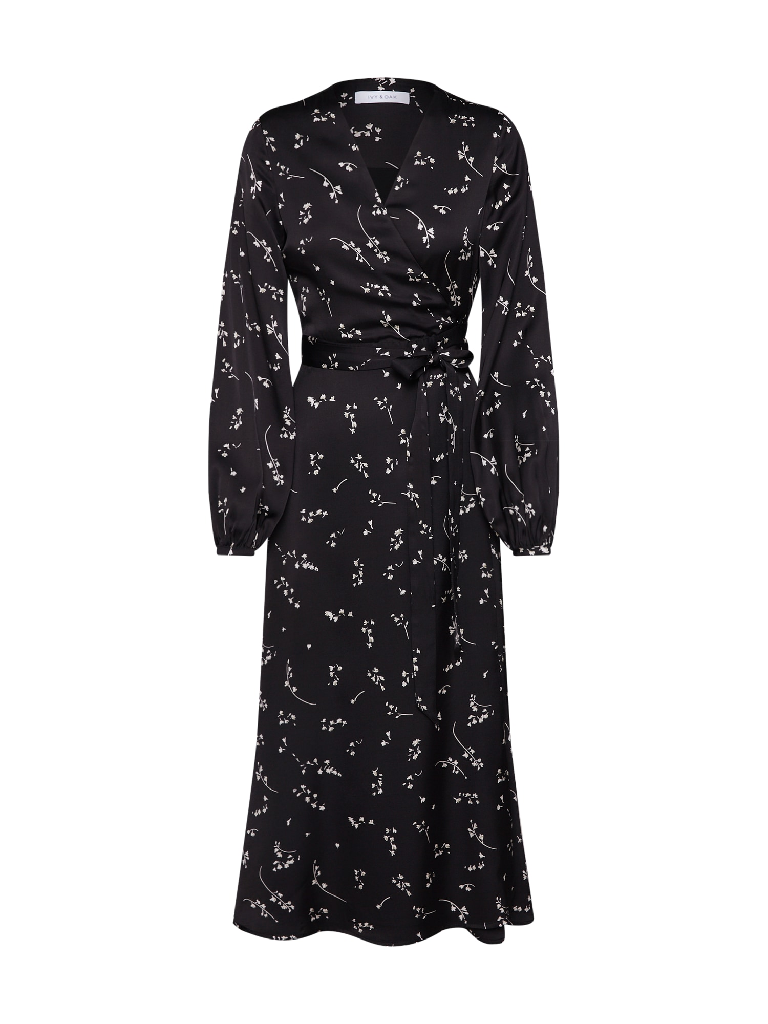 Šaty Wrapped Dress černá IVY & OAK