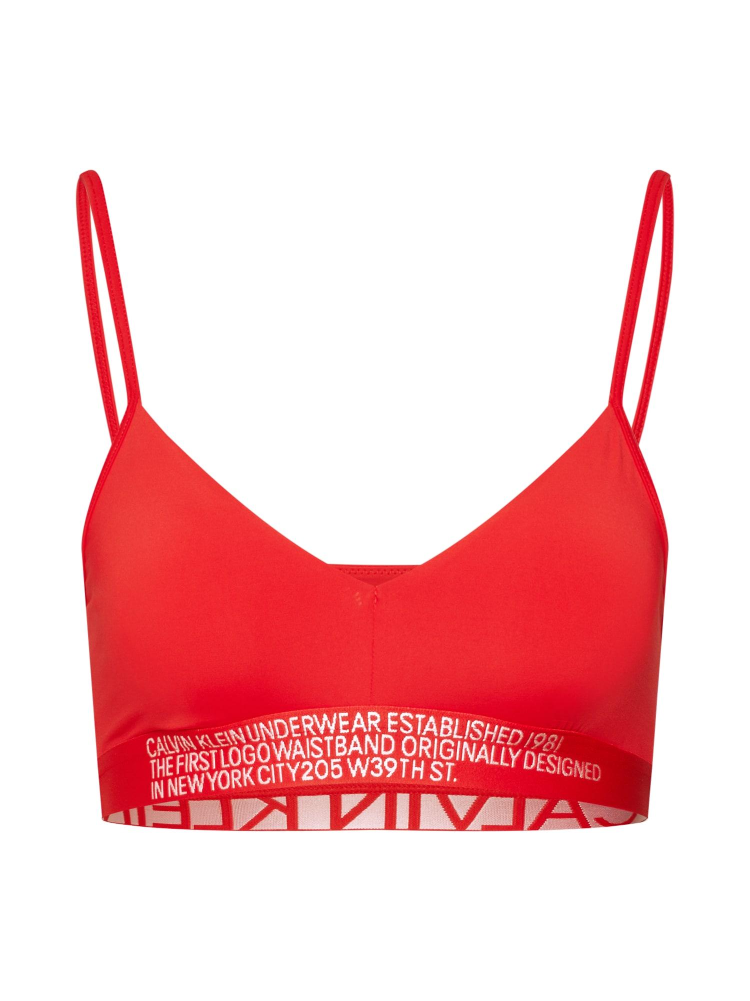 Podprsenka červená Calvin Klein Underwear