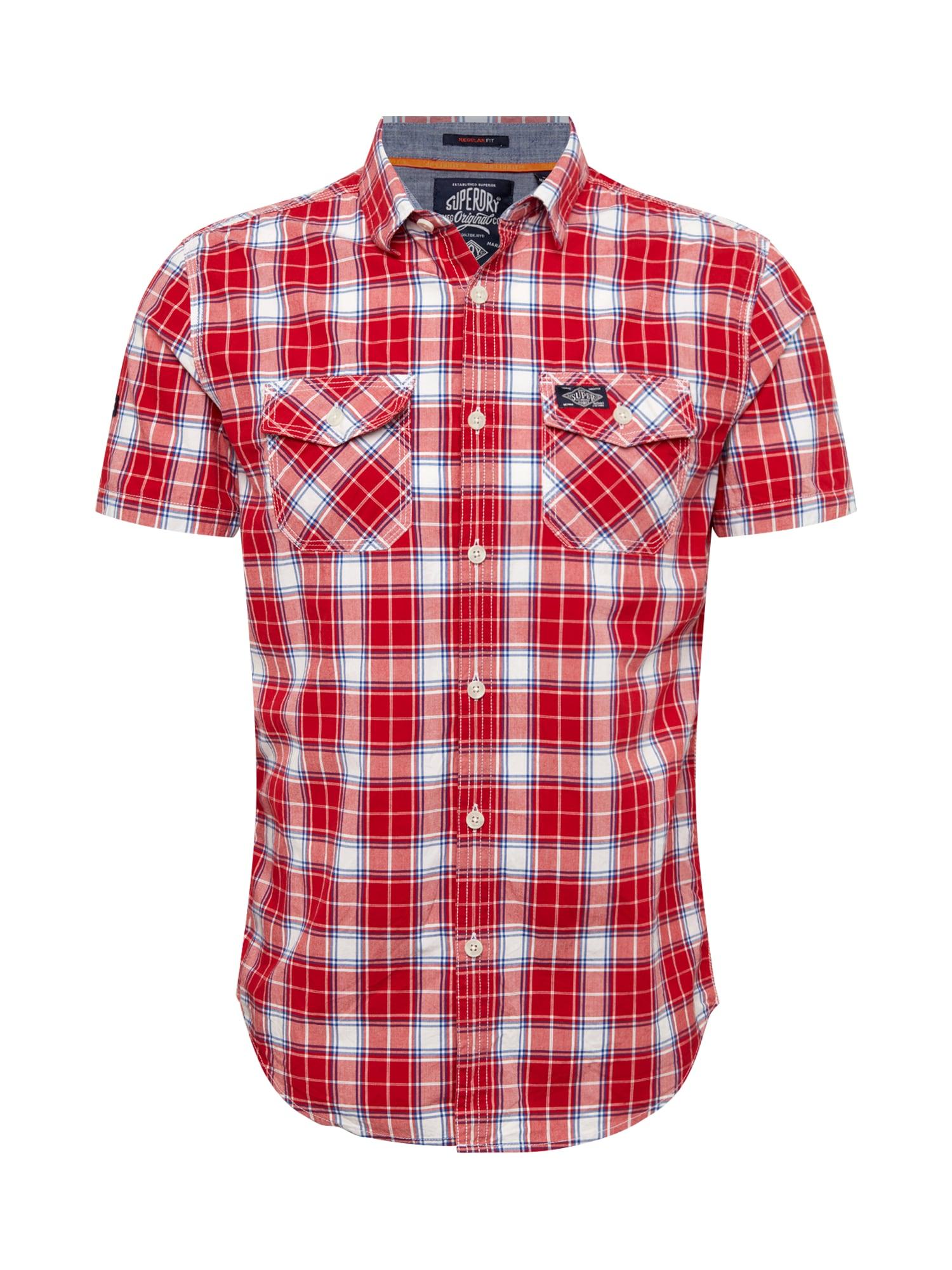 Košile červená bílá Superdry