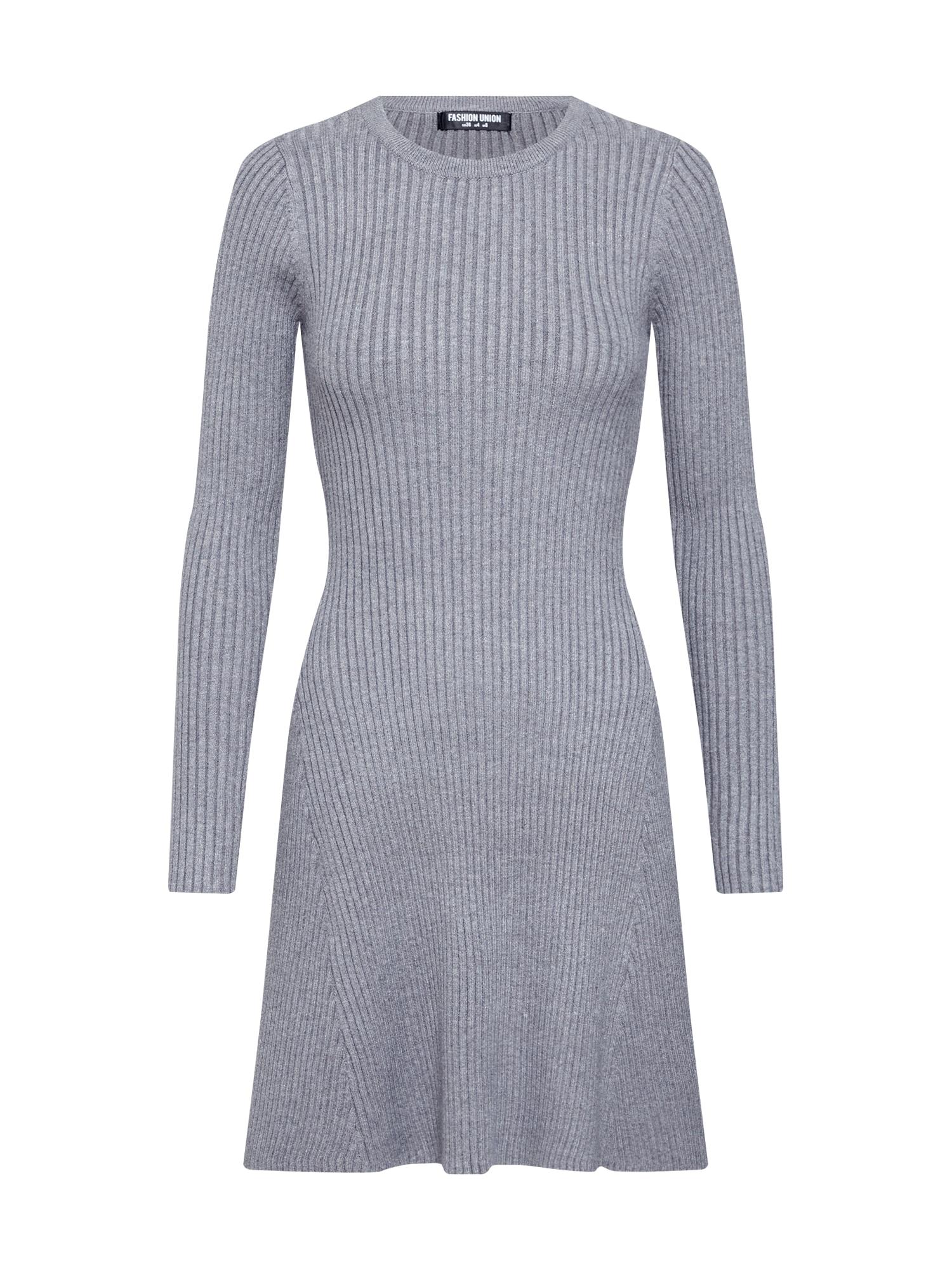 Úpletové šaty VERONICA šedá Fashion Union