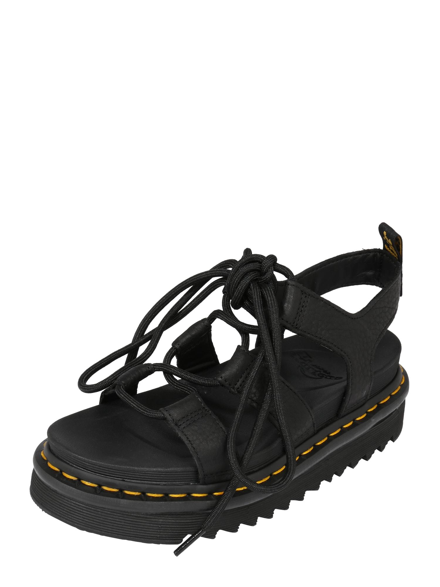 Sandály Nartilla černá Dr. Martens