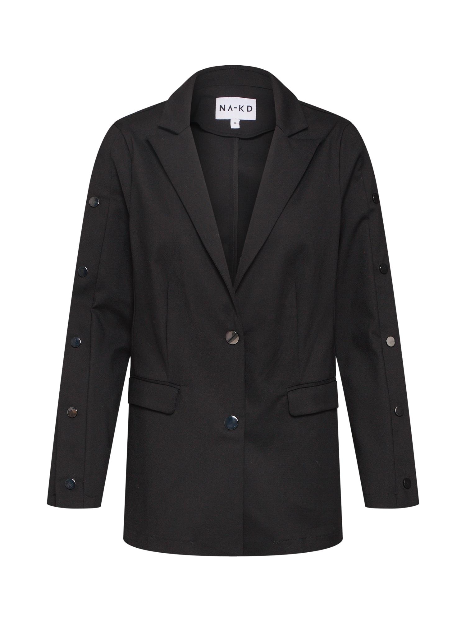 Blejzr Button Blazer černá NA-KD