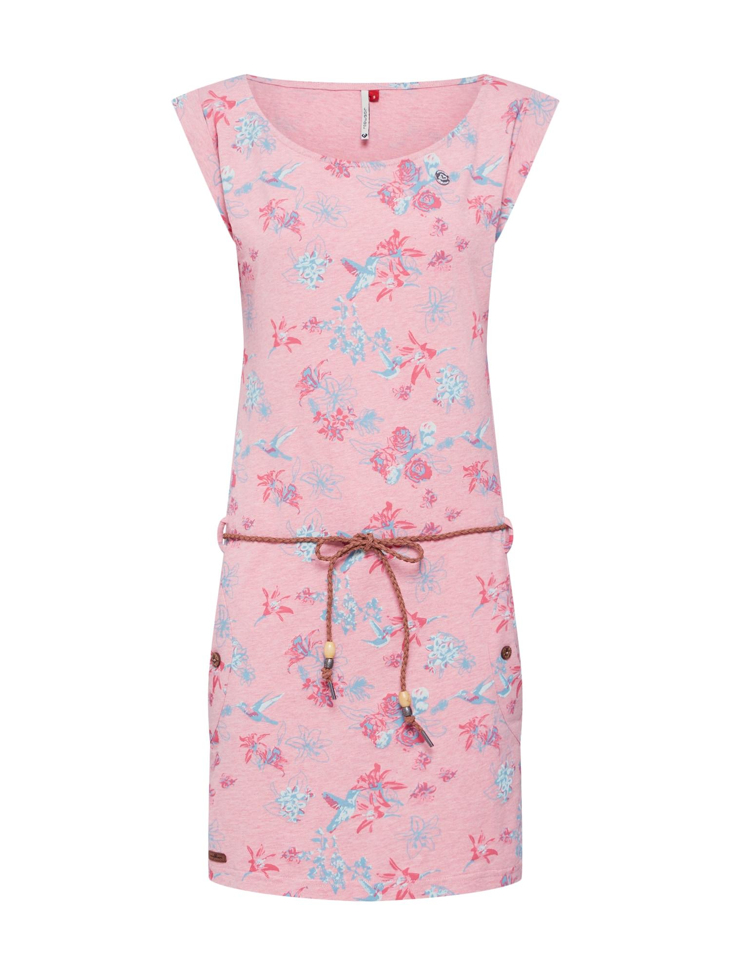 Letní šaty Tag Flowers mix barev růžová Ragwear