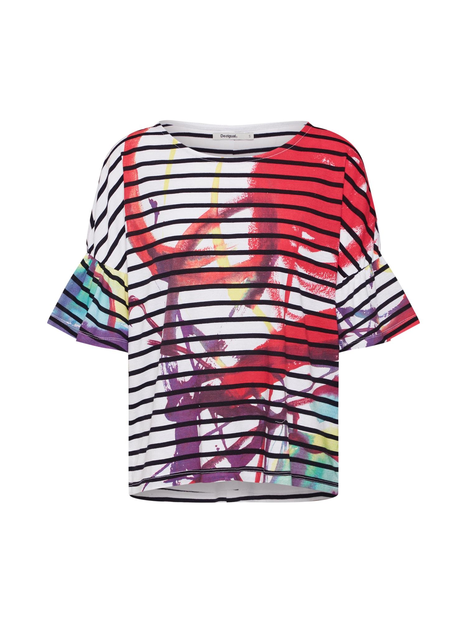 Tričko TS_Nottingham mix barev červená bílá Desigual