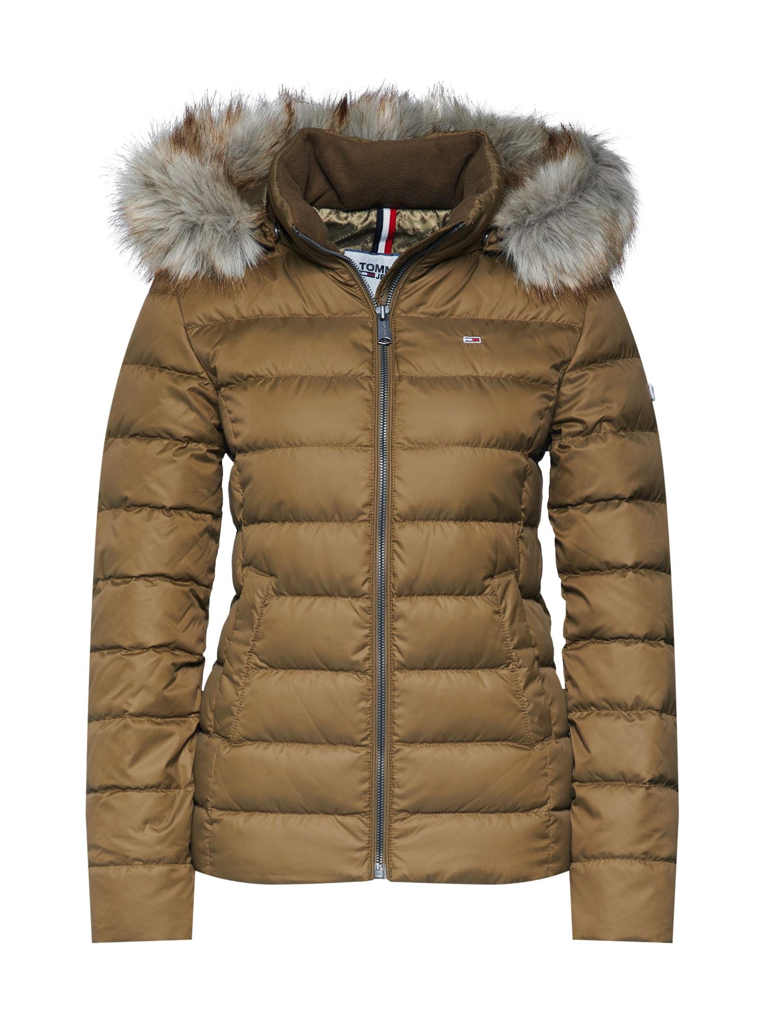 Zimní bunda khaki Tommy Jeans