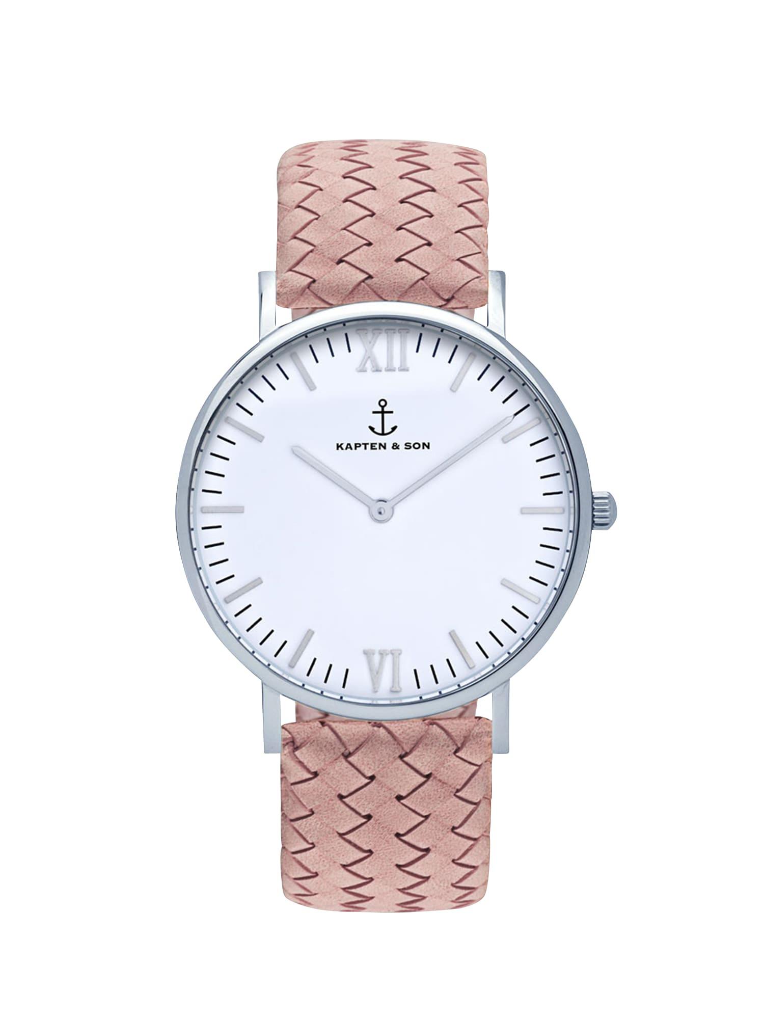 Analogové hodinky Campina růžová Kapten & Son
