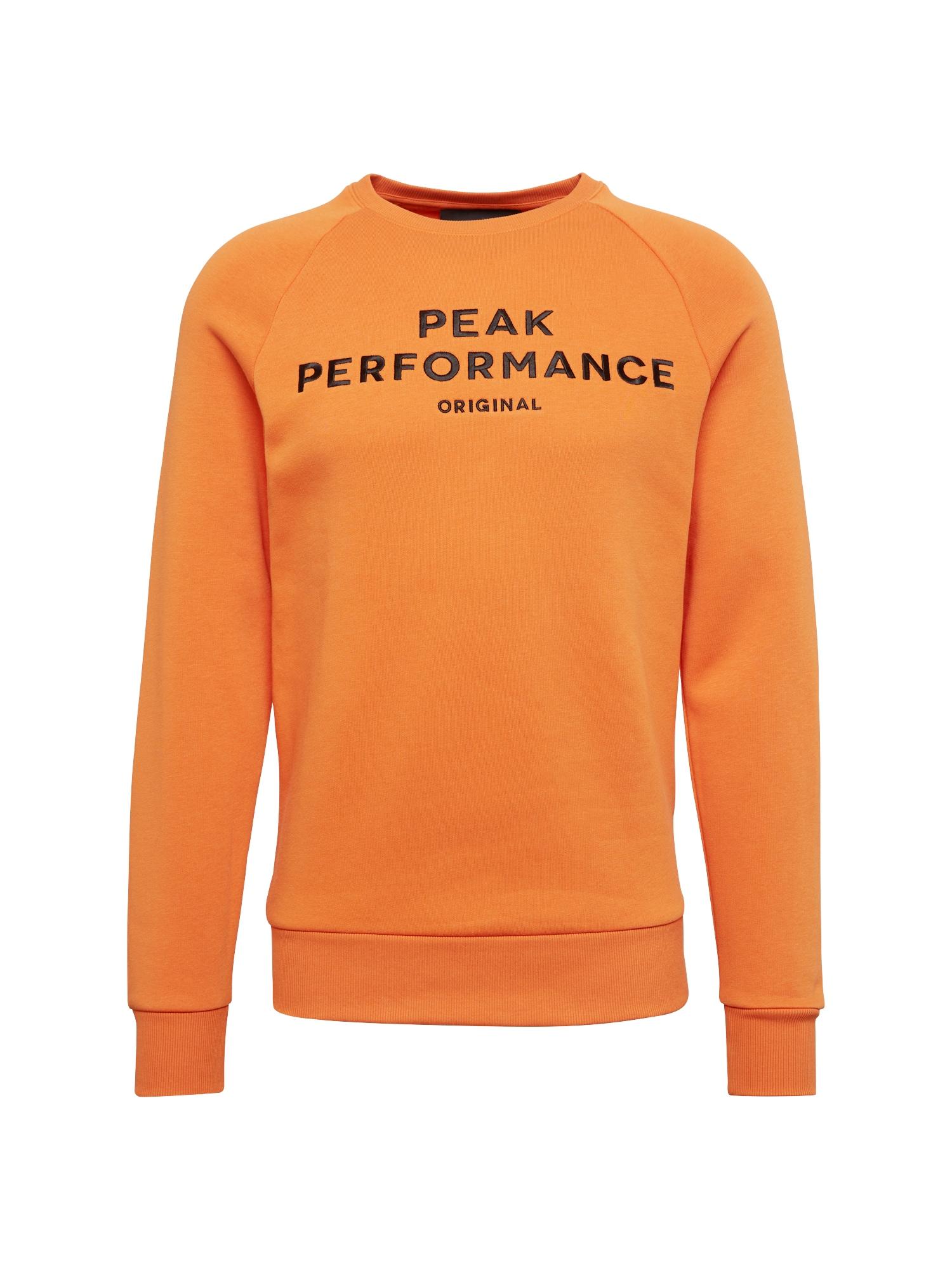 Mikina oranžová PEAK PERFORMANCE