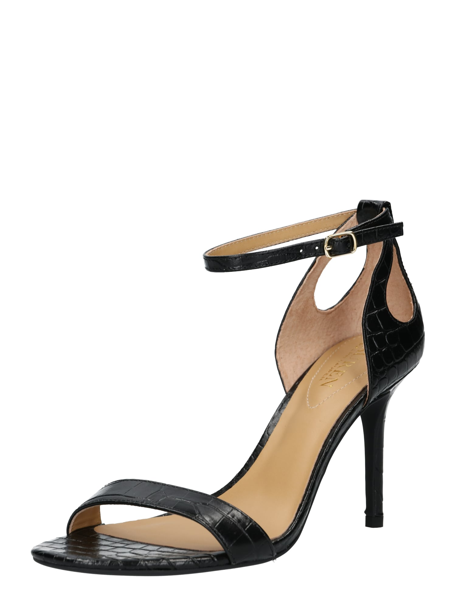 Sandály GRETCHIN-SANDALS černá Lauren Ralph Lauren