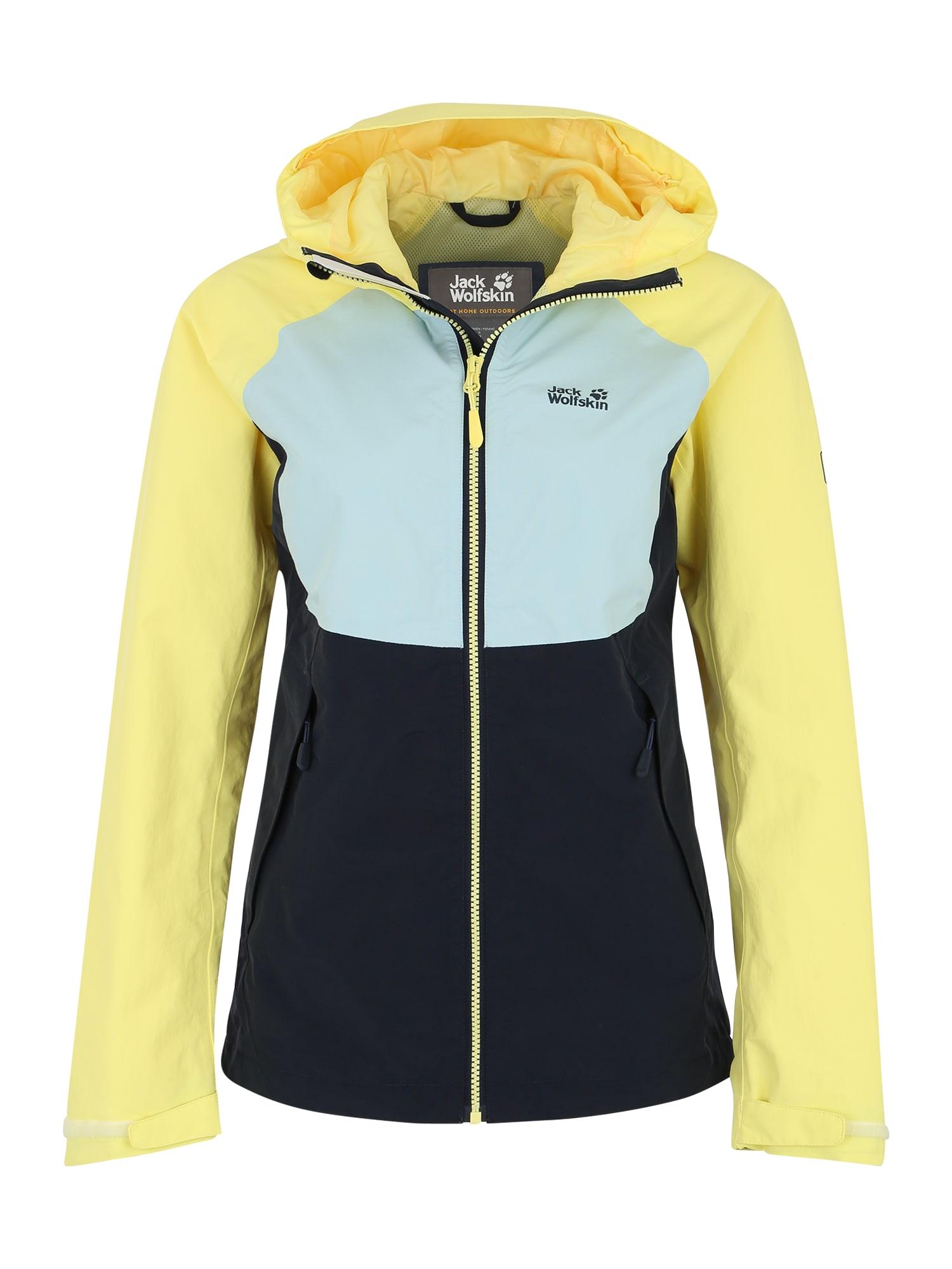 Outdoorová bunda Mount Isa noční modrá světlemodrá limone JACK WOLFSKIN