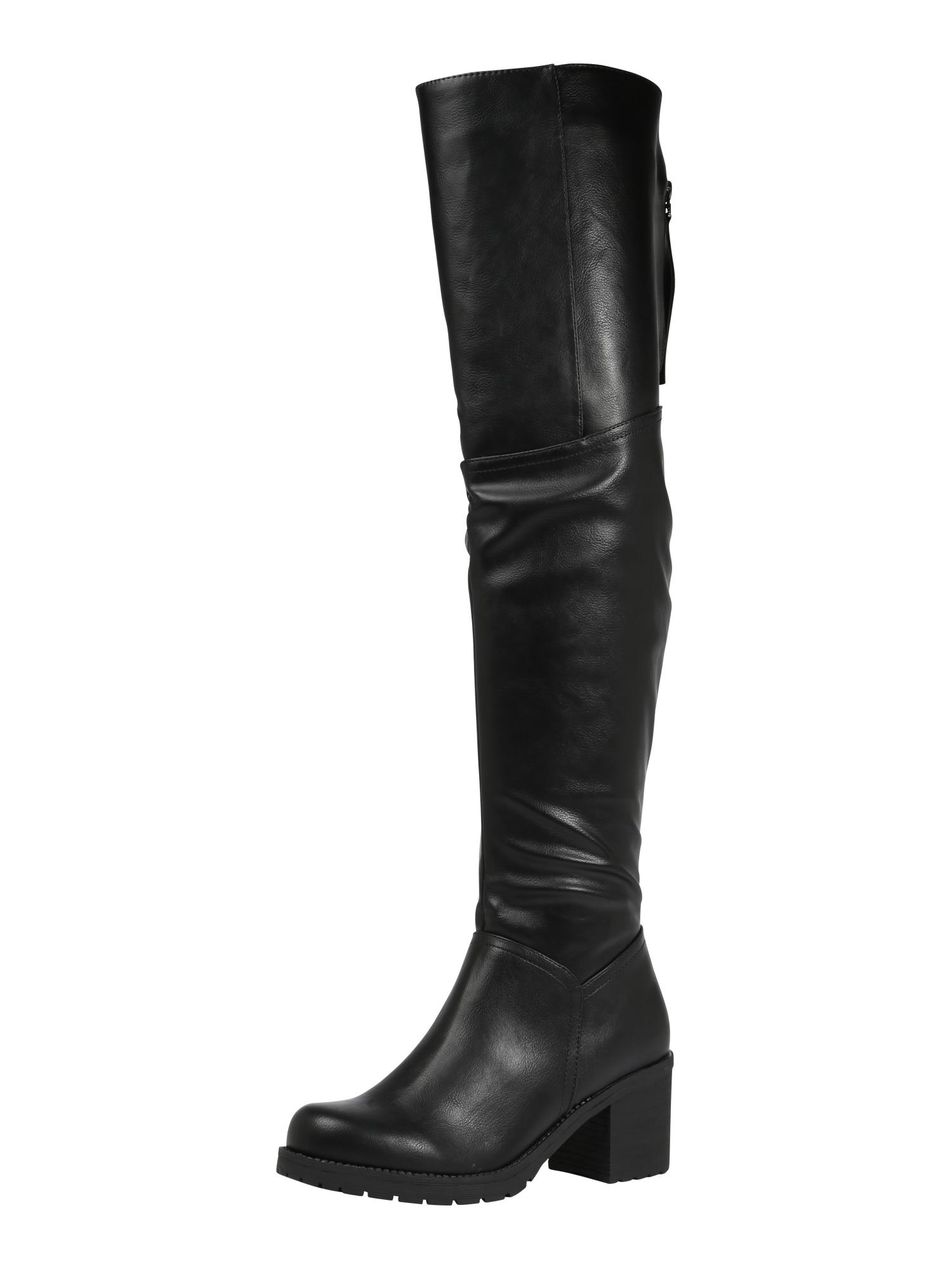 Anna Field, Dames Overknee laarzen, zwart