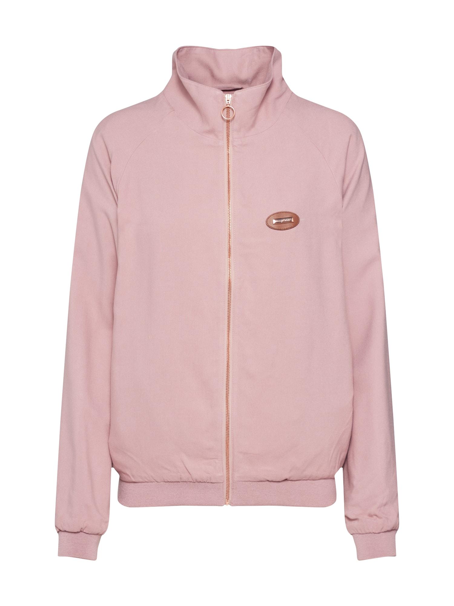 Přechodná bunda Karen růžová Mazine