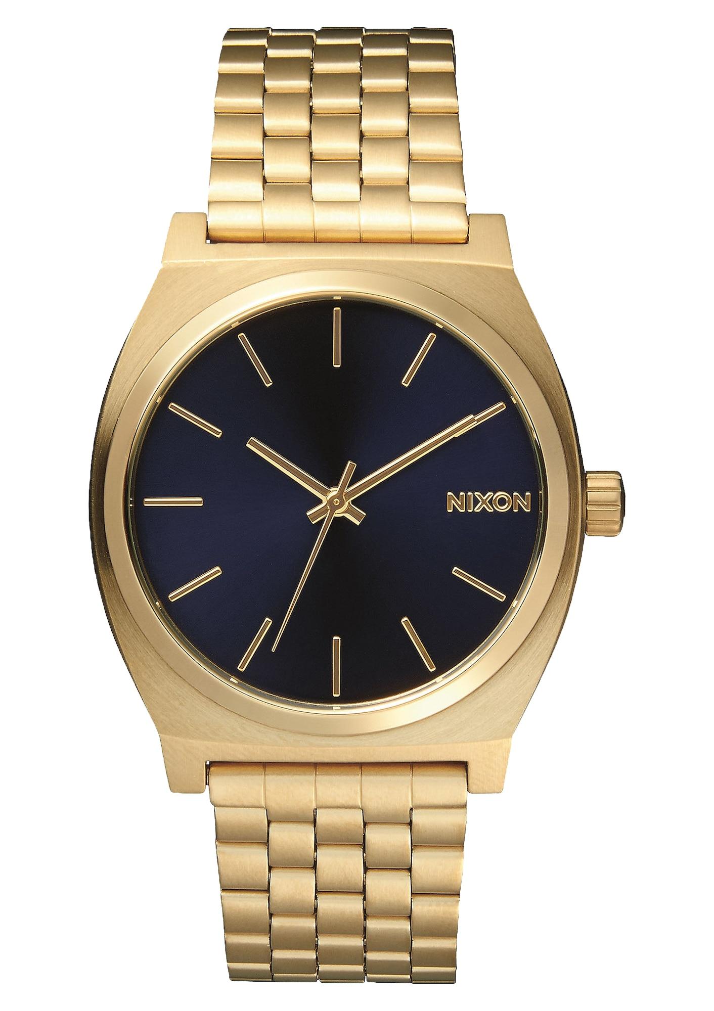 Analogové hodinky Time Teller tmavě modrá zlatě žlutá Nixon