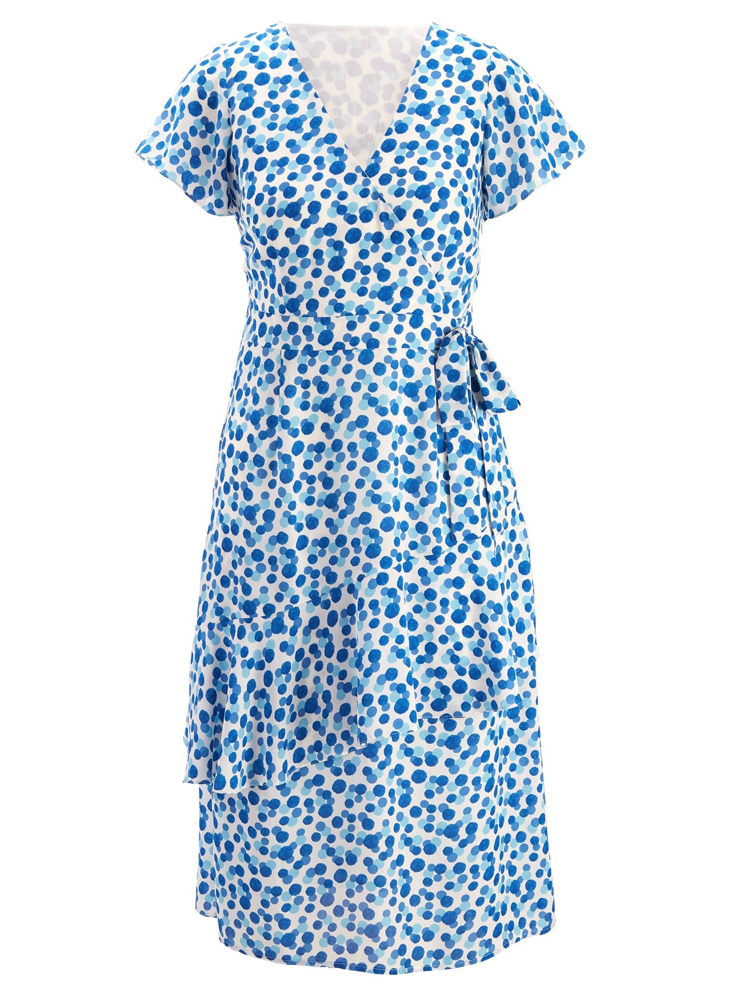 Letní šaty modrá bílá Heine
