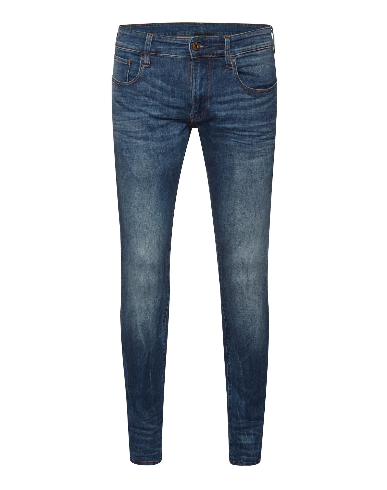 G-STAR RAW Heren Jeans 3301 Deconstructed Super Slim blauw denim