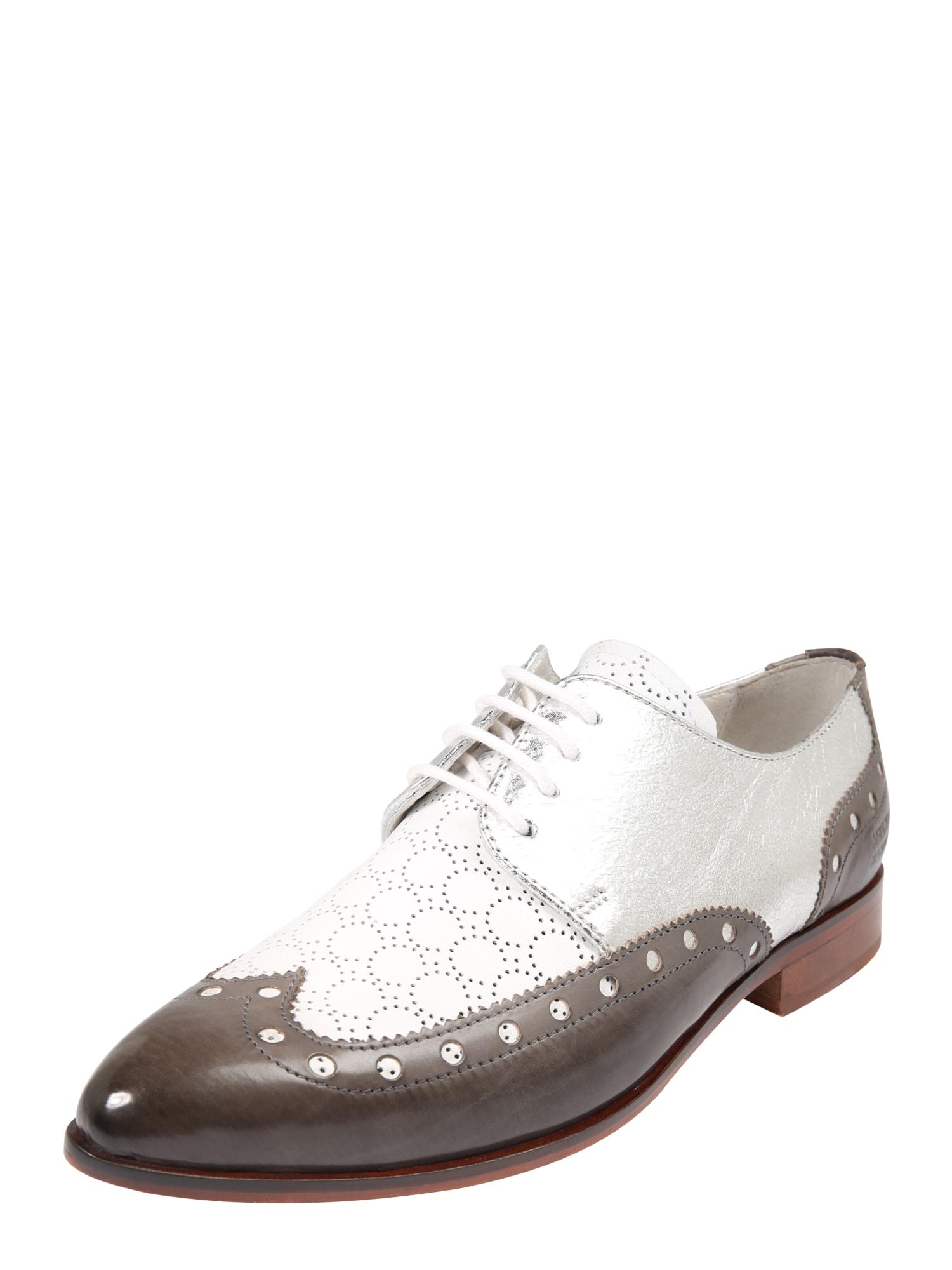 Šněrovací boty Jessy 38 hnědá stříbrná bílá MELVIN & HAMILTON