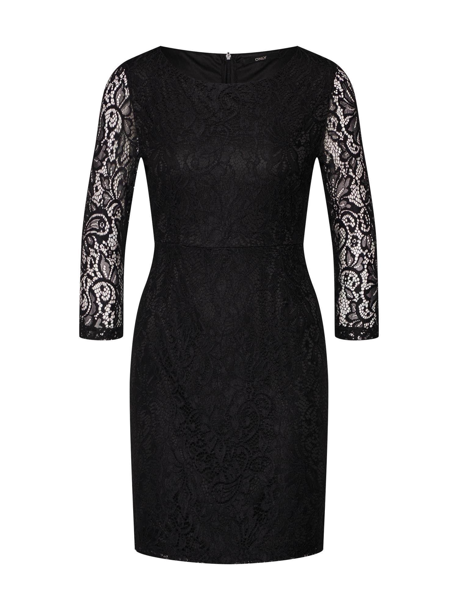 Šaty onlSANTA CRUZ MID DRESS WVN černá ONLY