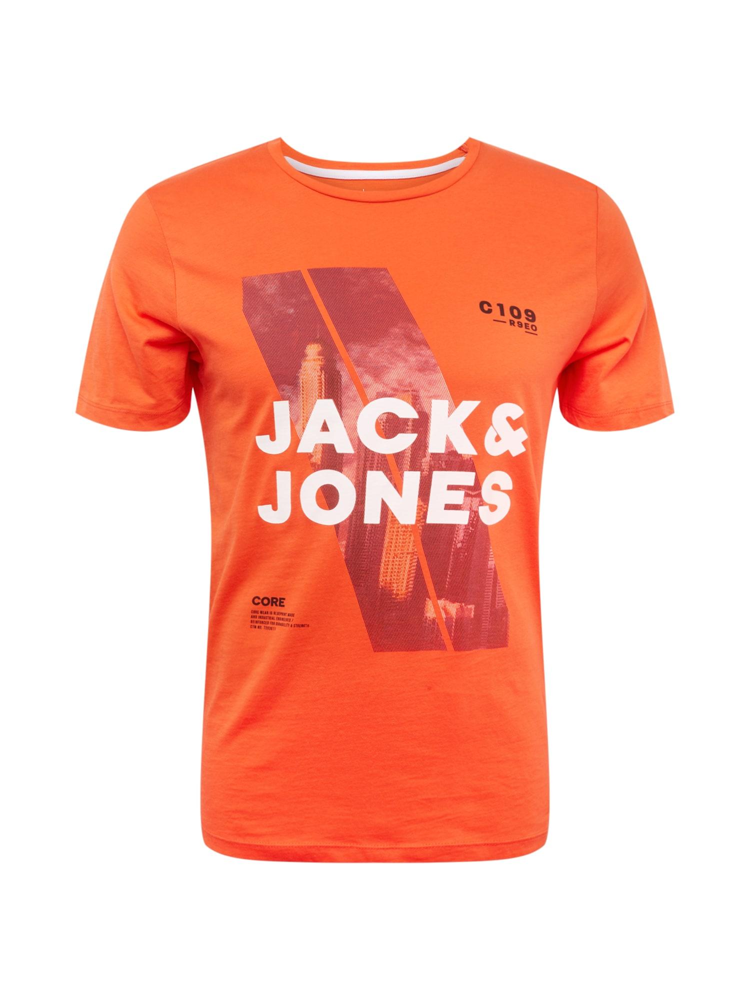 Tričko Jeep Tee mix barev tmavě oranžová JACK & JONES