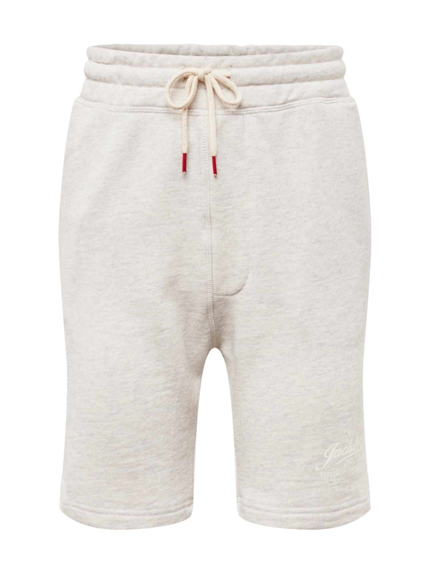 Kalhoty JJEMELANGE SWEAT SHORTS STS perlově bílá JACK & JONES