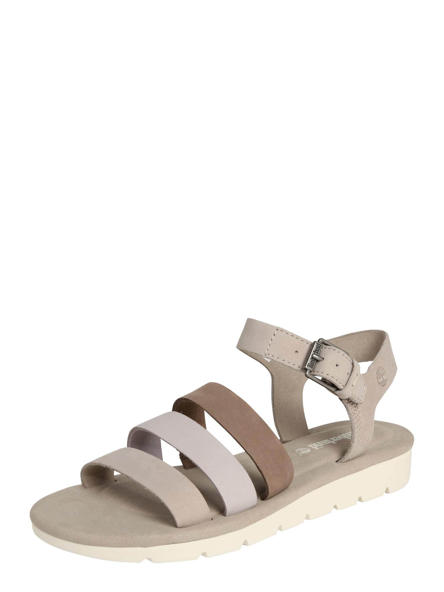 Páskové sandály Lottie Lou hnědá kámen světle šedá TIMBERLAND