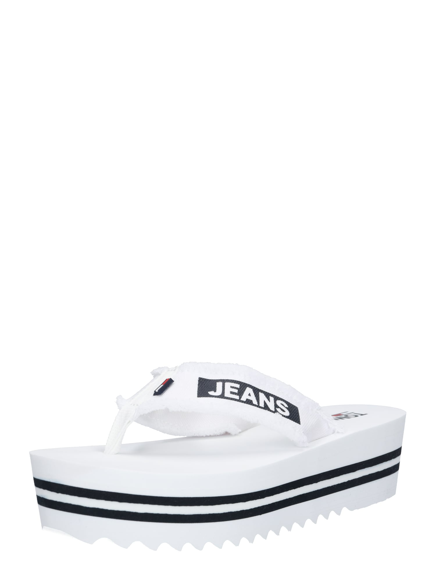 Pantofle DENIM MID BEACH SANDAL bílá Tommy Jeans