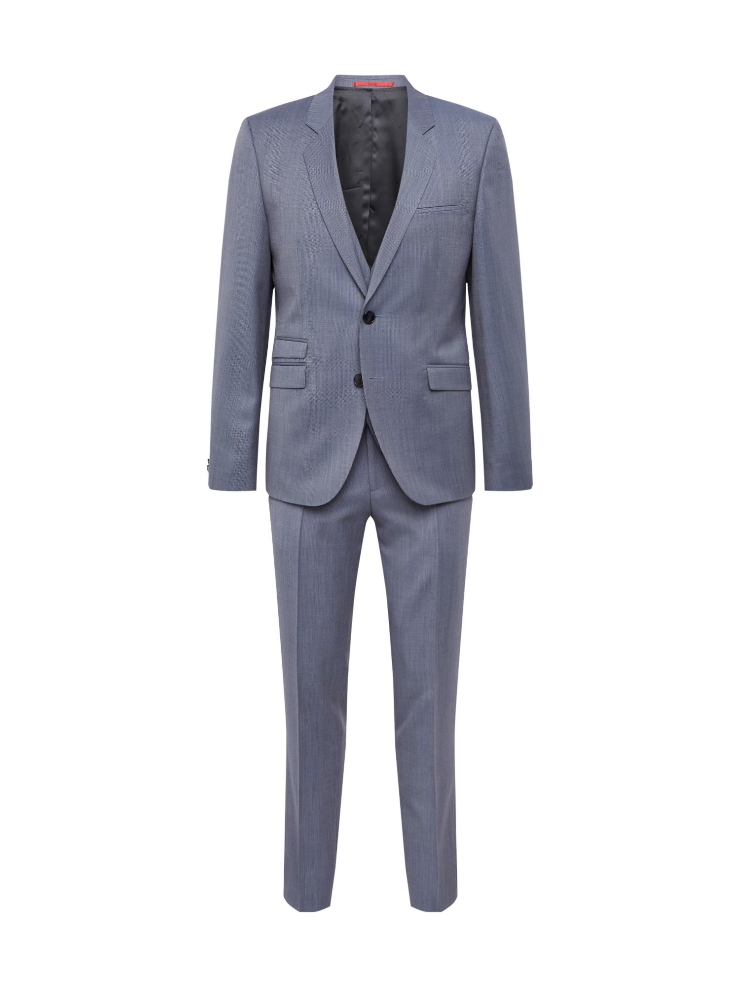 Oblek kouřově modrá HUGO