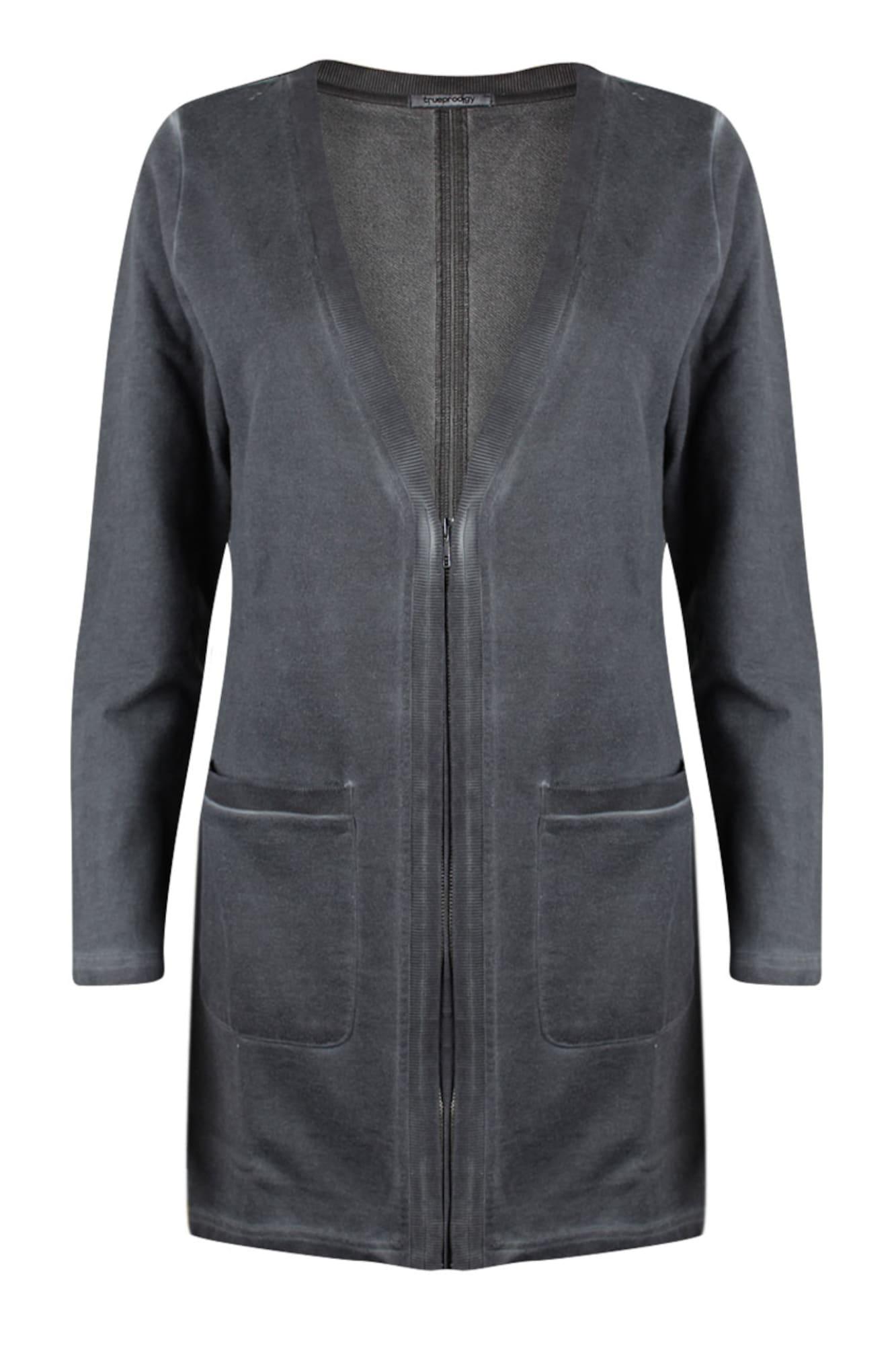 Sweatjacke 'Lori' | Bekleidung > Sweatshirts & -jacken > Sweatjacken | Dunkelgrau | Trueprodigy