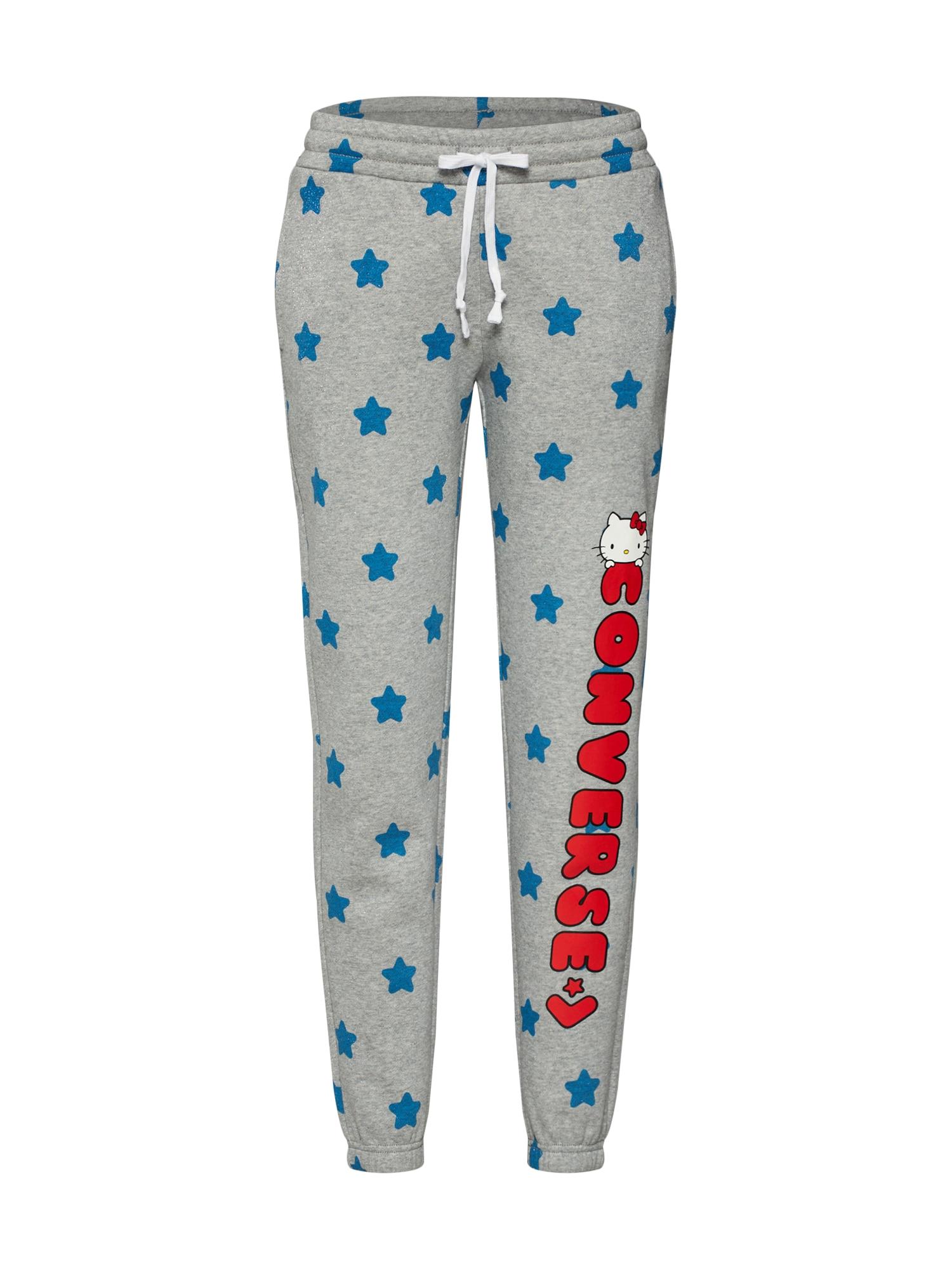 Kalhoty x HELLO KITTY STAR WHITE MULTI modrá šedá červená CONVERSE