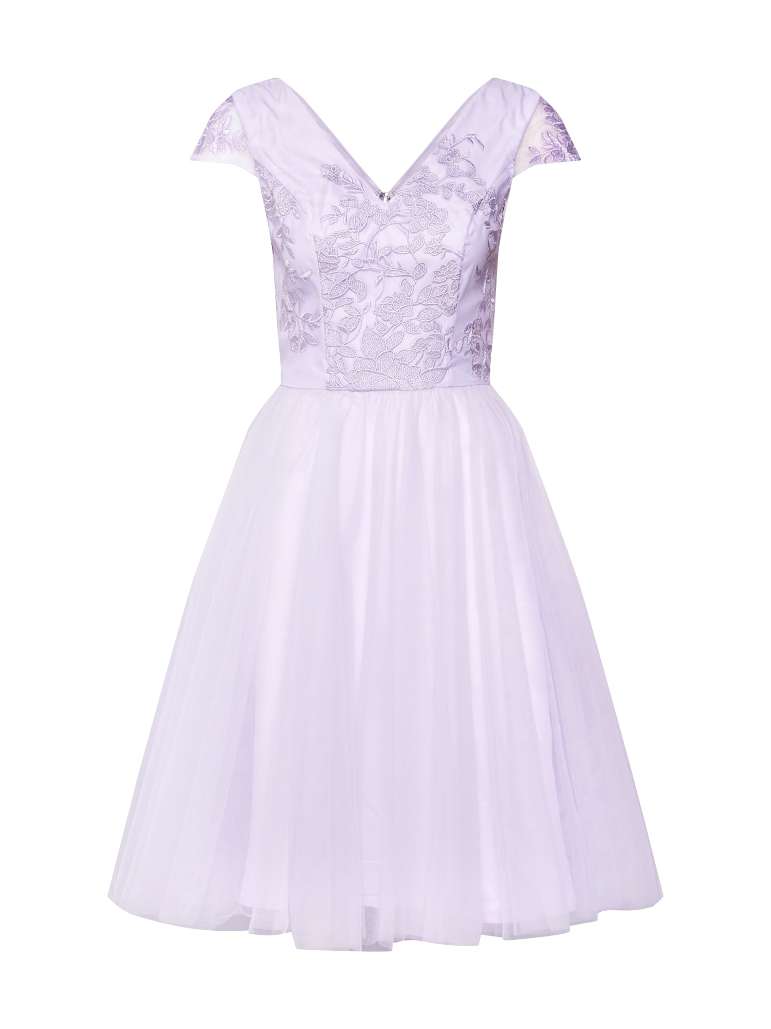Koktejlové šaty LEANNE bledě fialová Chi Chi London