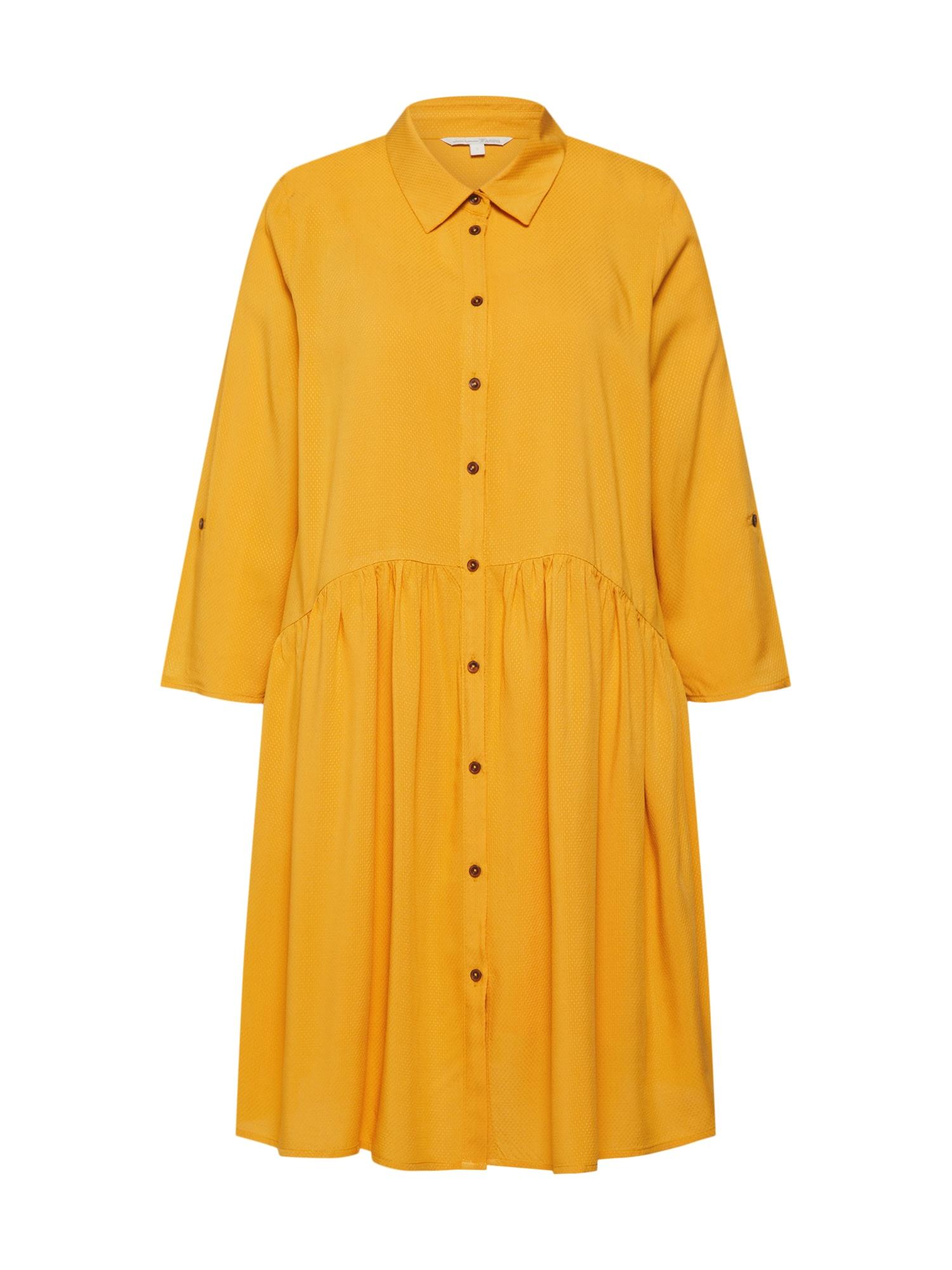 Košilové šaty žlutá TOM TAILOR DENIM