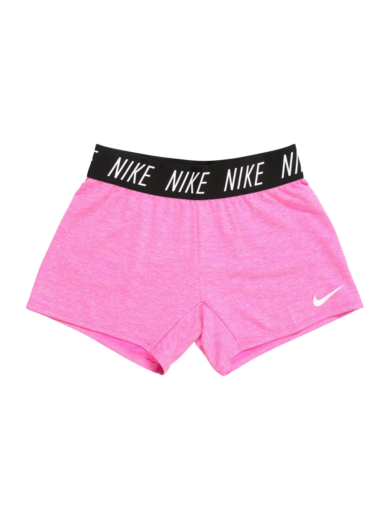Sportovní kalhoty G DRY SHORT pink bílá NIKE