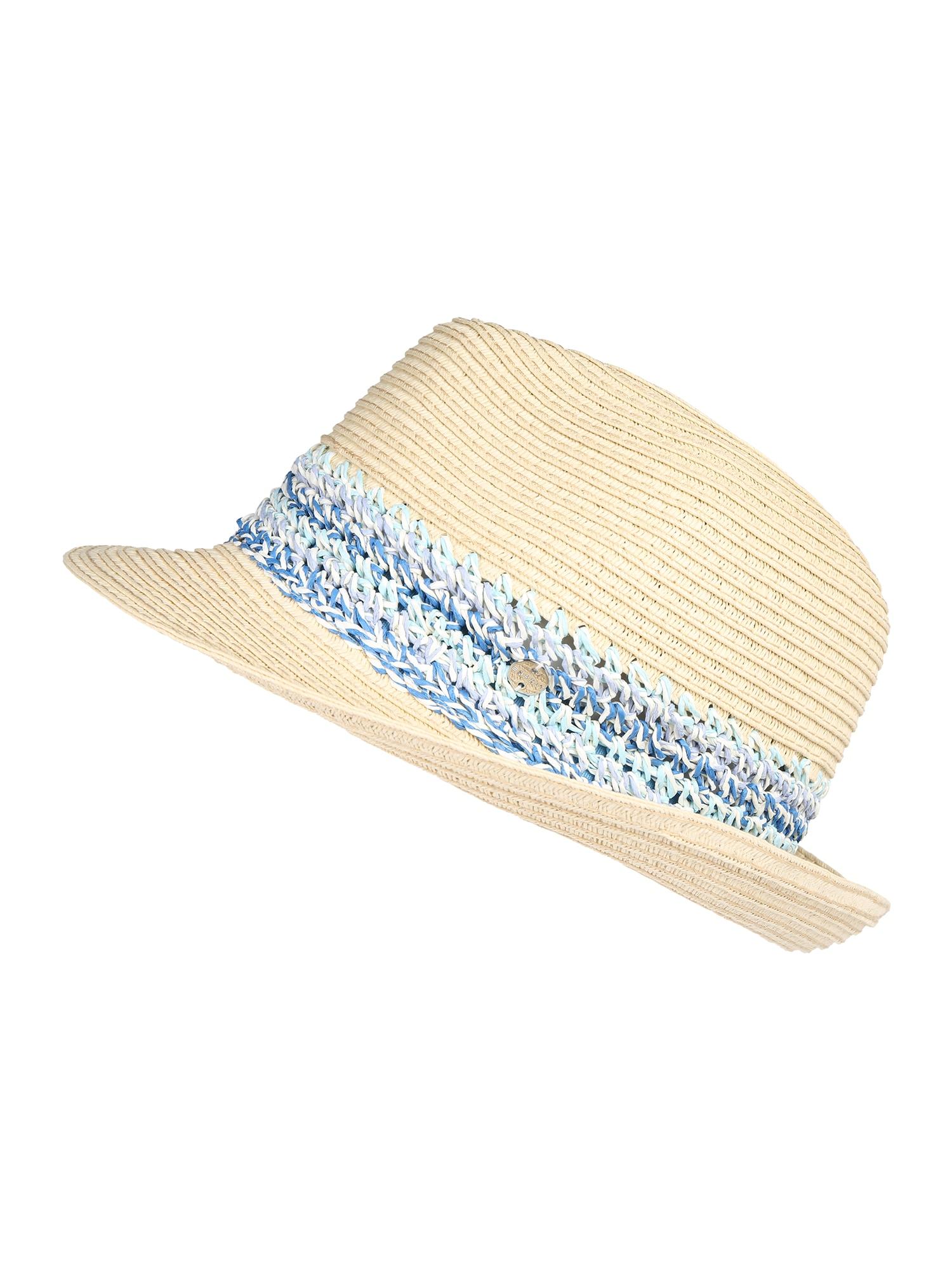 Klobouk CrochStrpTrillb beige blau ESPRIT