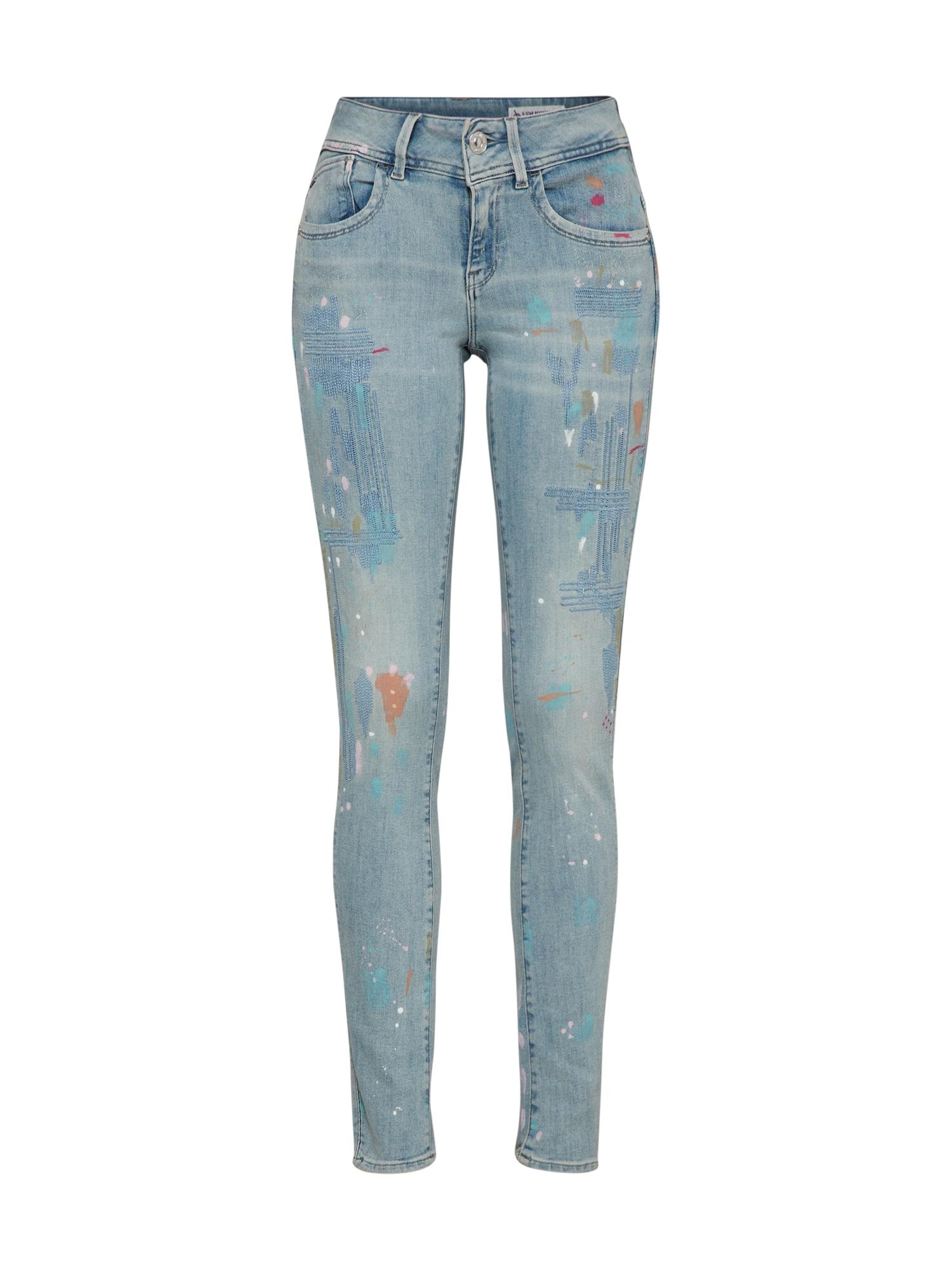 G-STAR RAW Dames Jeans Lynn-b mid skinny wmn blue denim