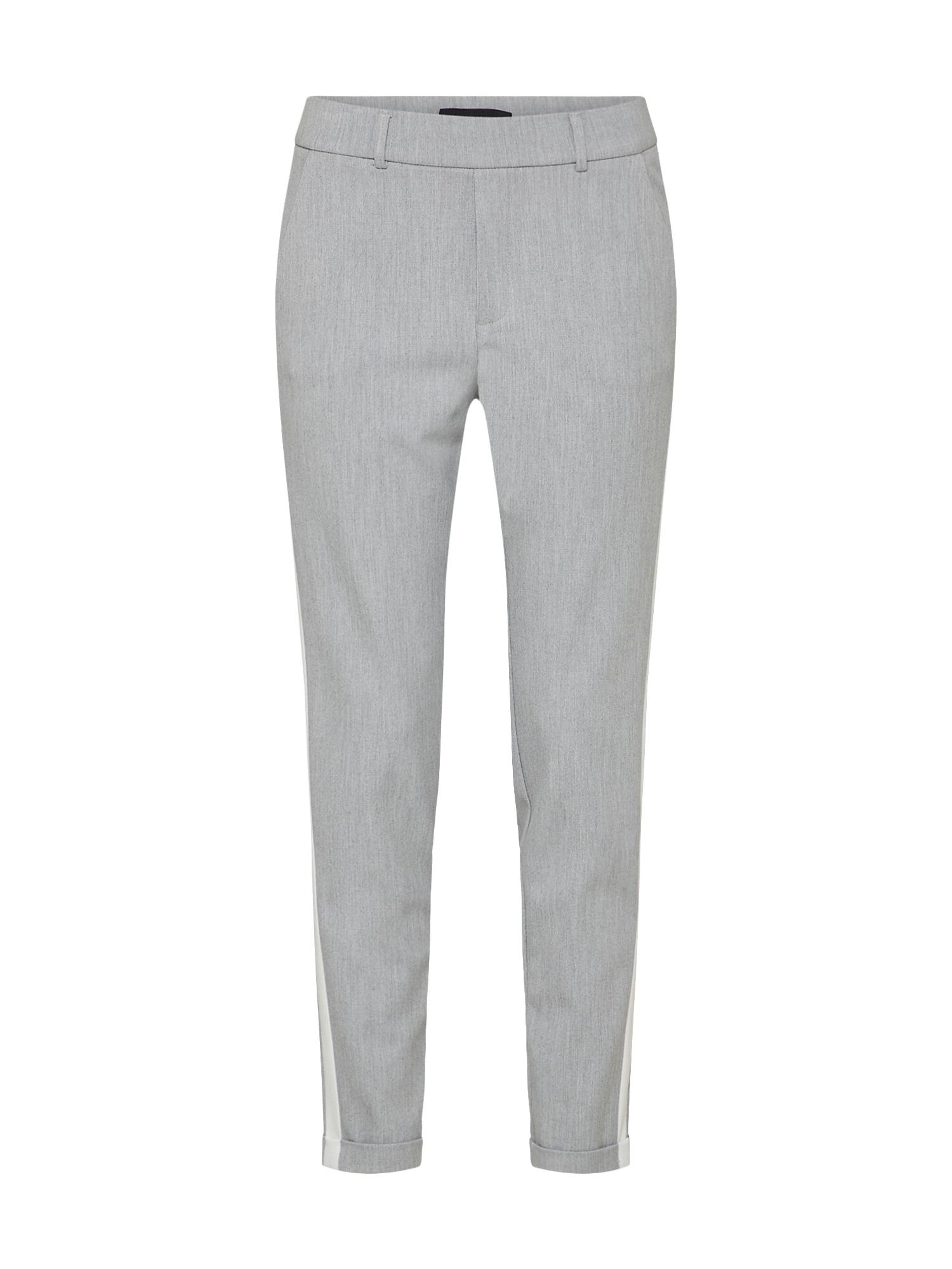 Kalhoty MAYA světle šedá bílá VERO MODA