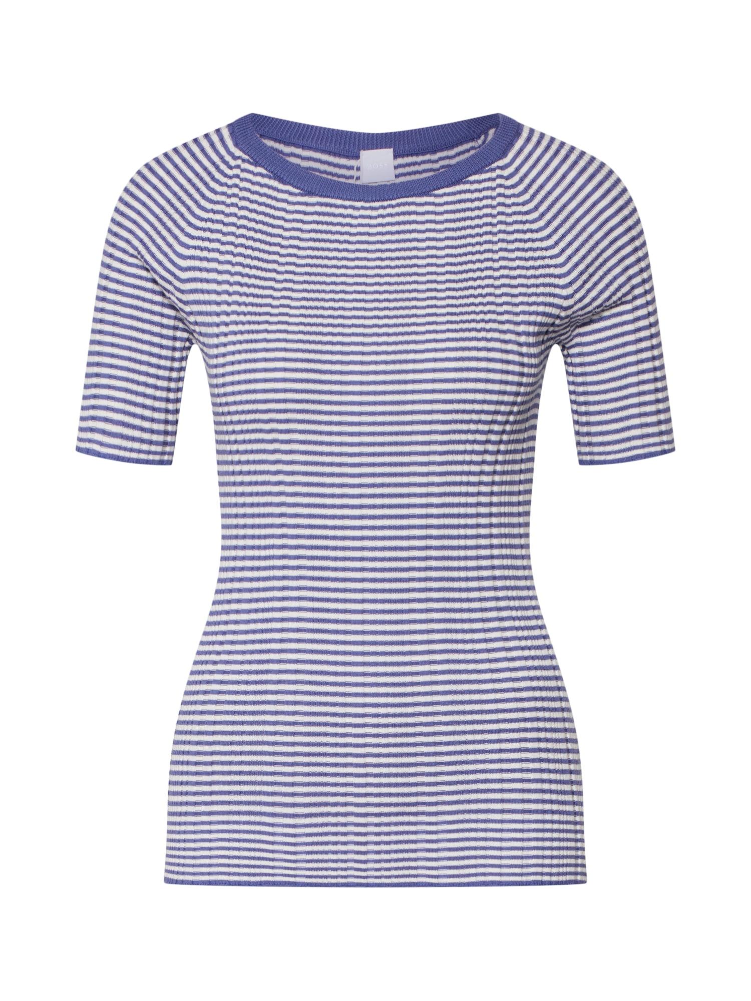Tričko Ileha modrá bílá BOSS