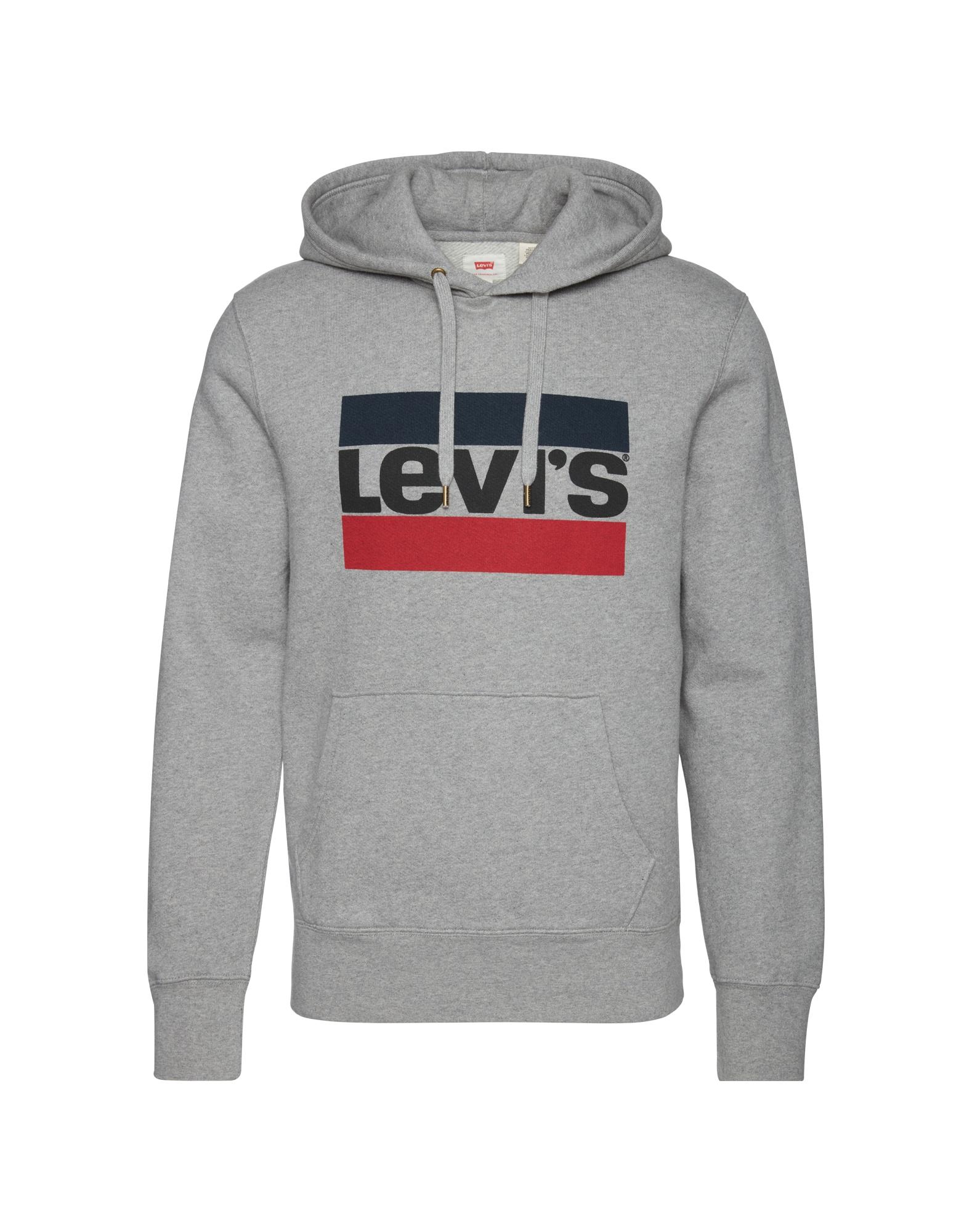 LEVI'S Heren Sweatshirt blauw grijs gemêleerd rood