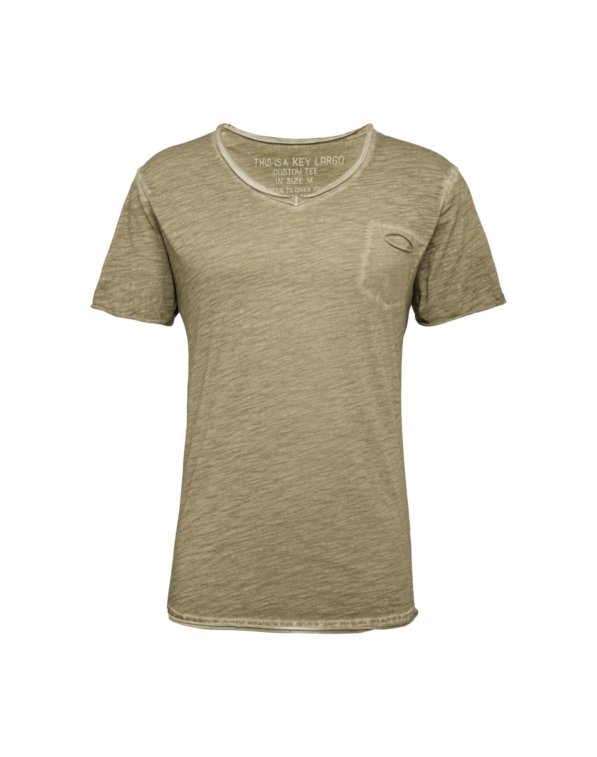 key largo - T-Shirt mit V-Ausschnitt