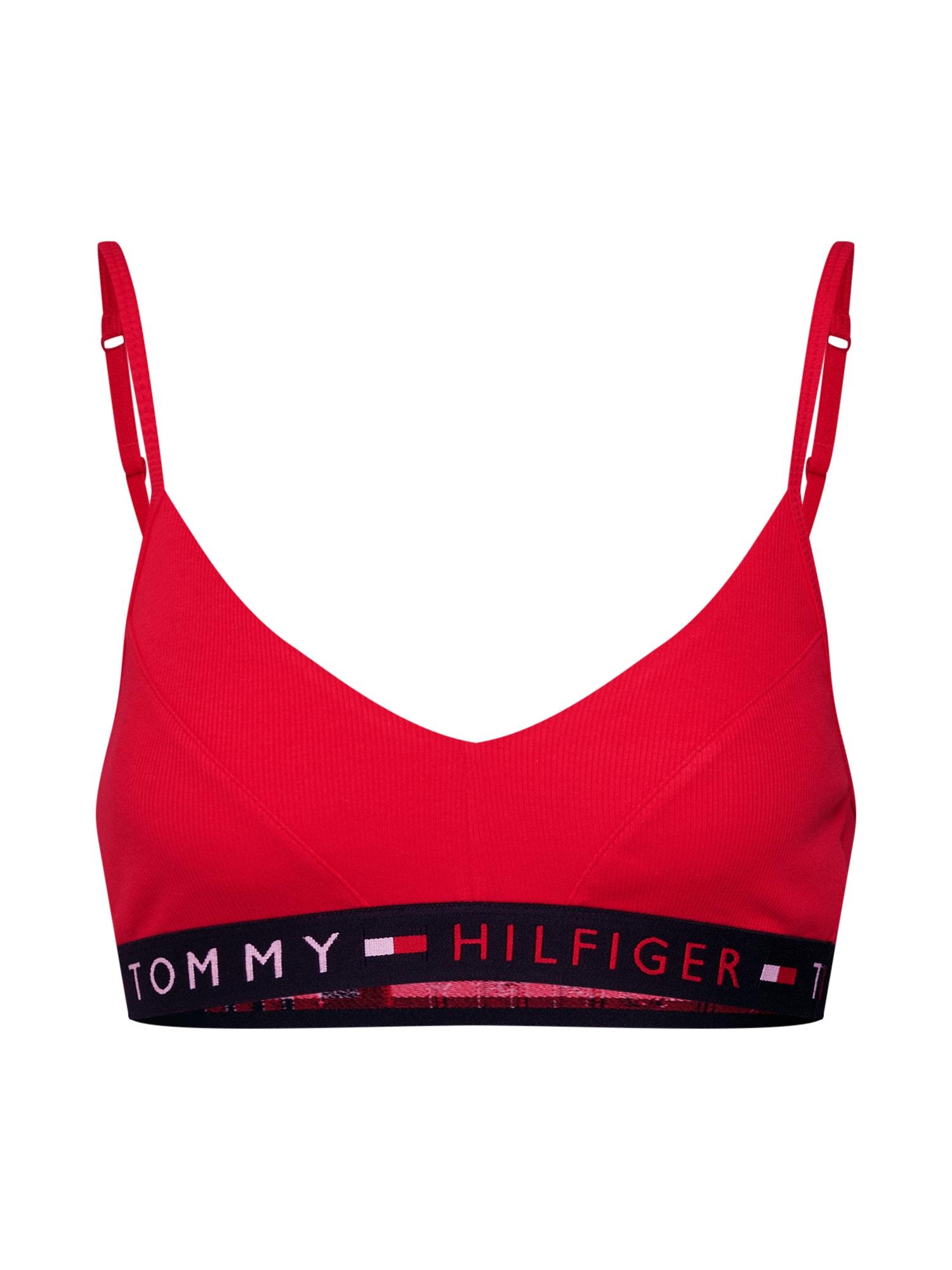 Podprsenka červená černá Tommy Hilfiger Underwear