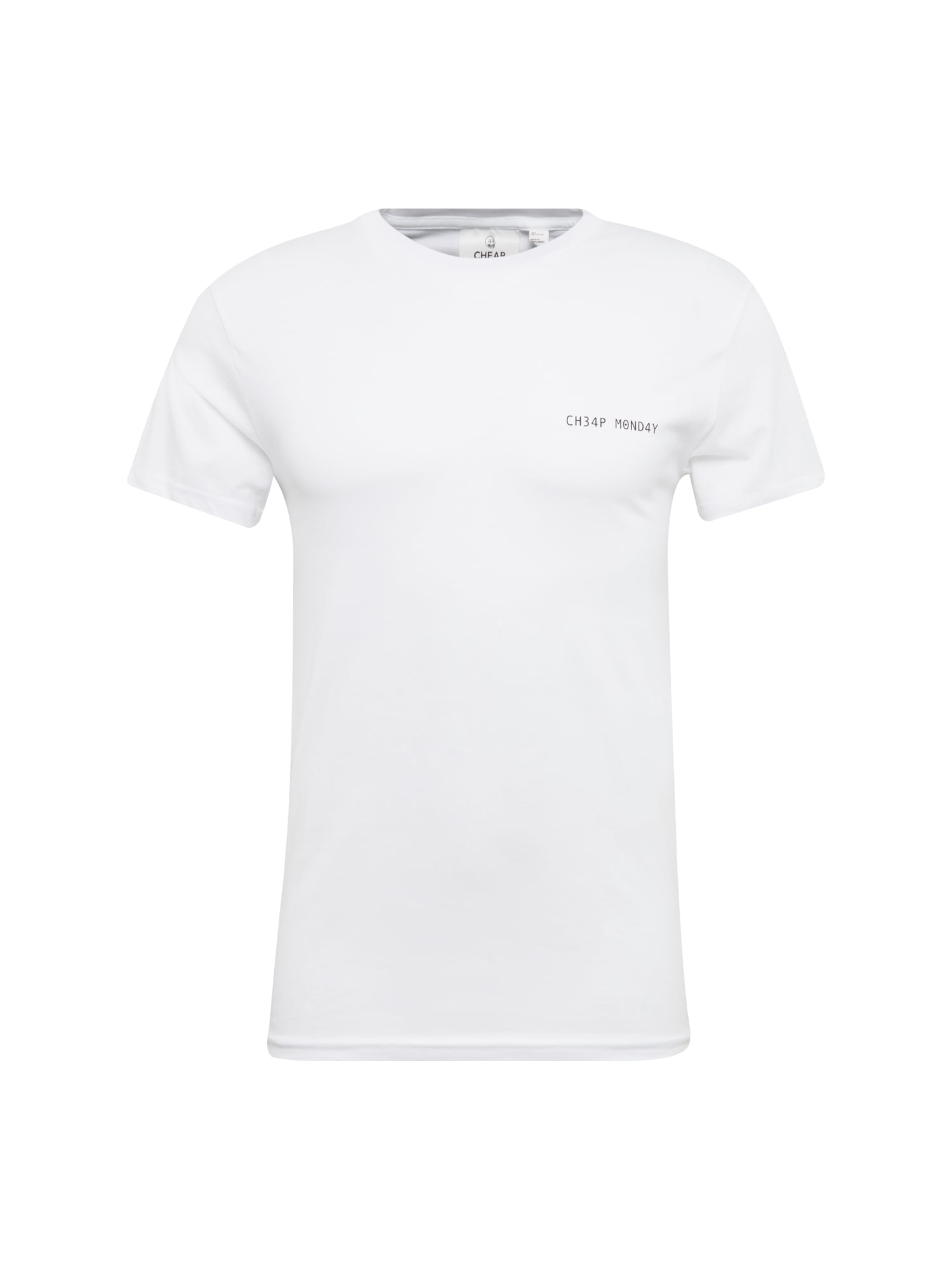 CHEAP MONDAY Heren Shirt Standard tee Security logo wit