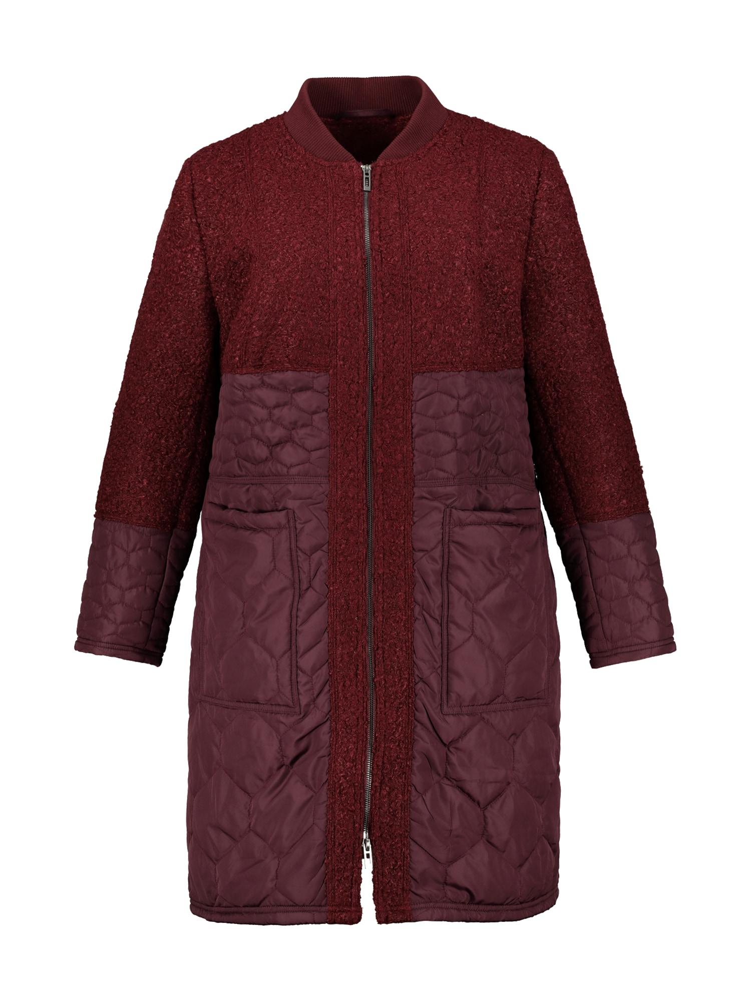 Přechodný kabát vínově červená Studio Untold