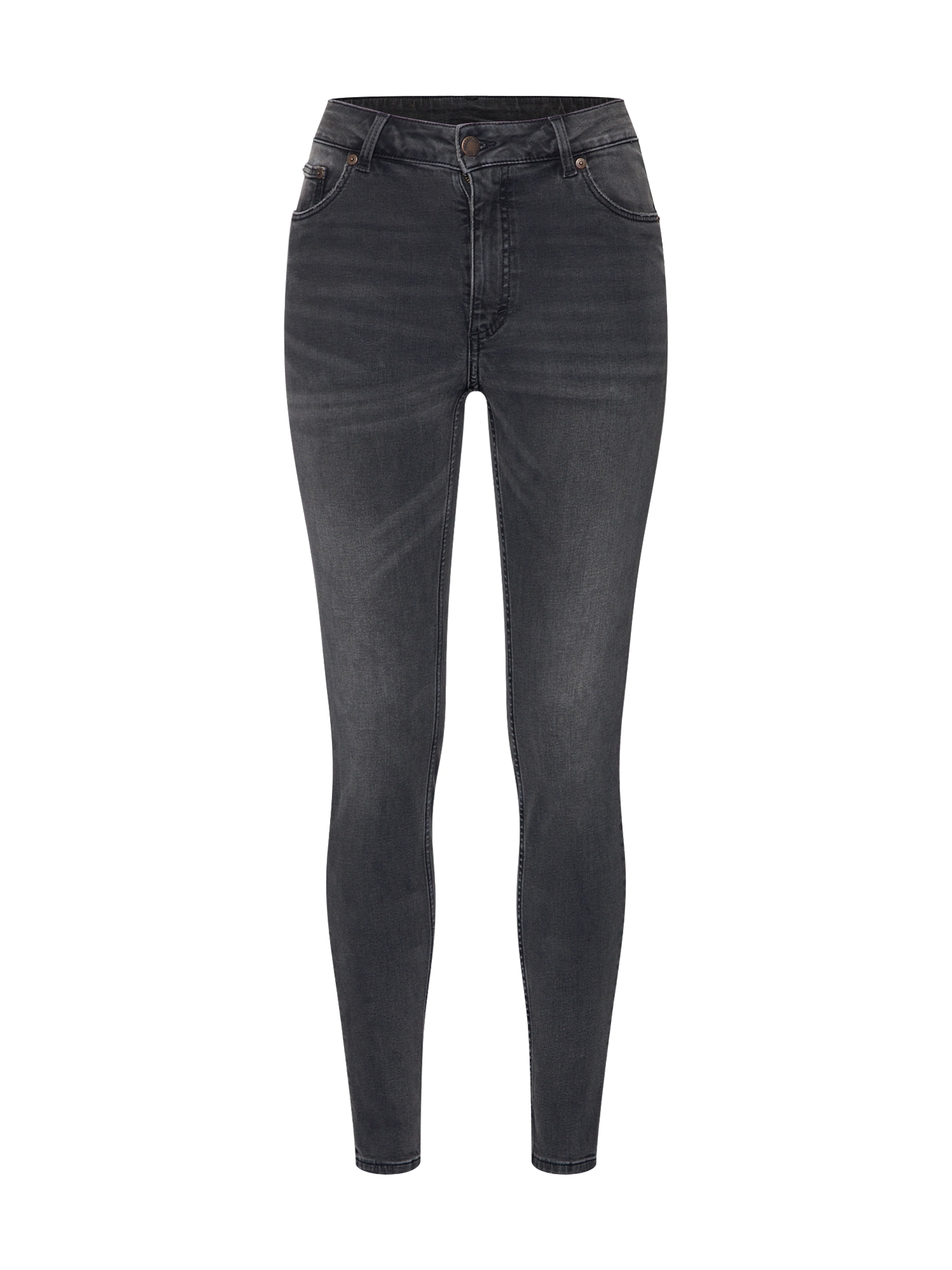 CHEAP MONDAY Dames Jeans High Skin donkergrijs