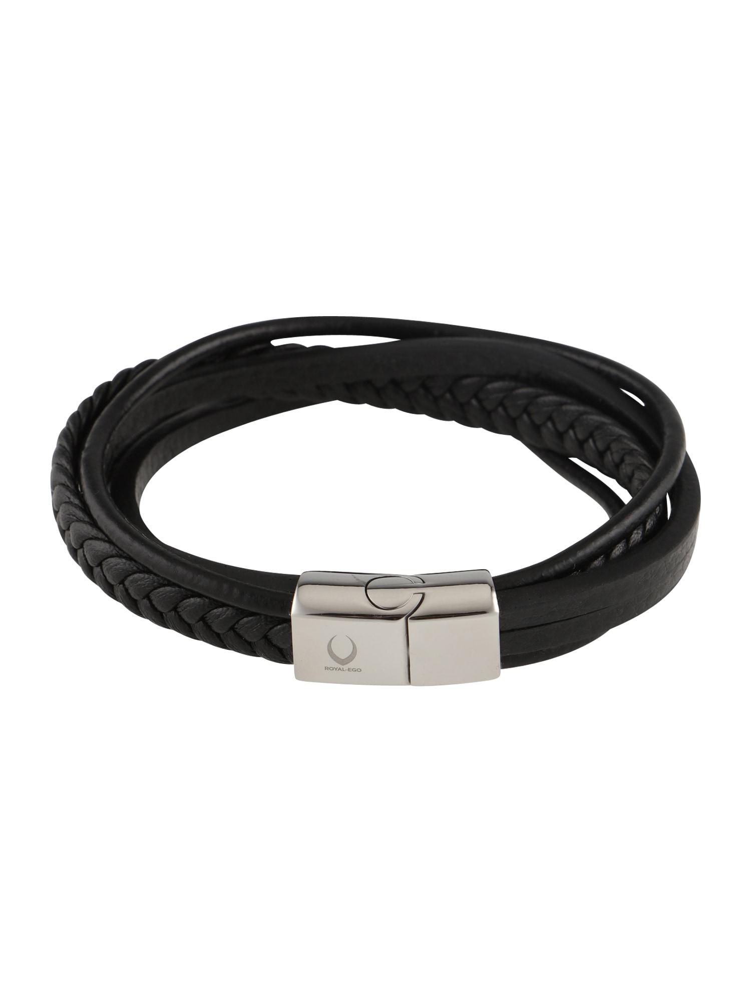 Náramek Multi Leather Bracelet černá ROYAL-EGO