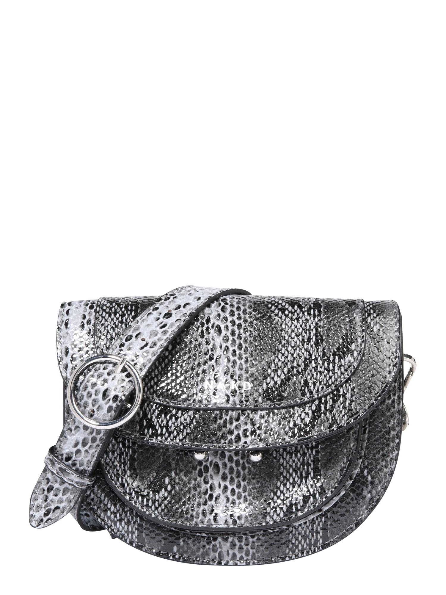 Taška přes rameno snake shoulder bag bílá NA-KD