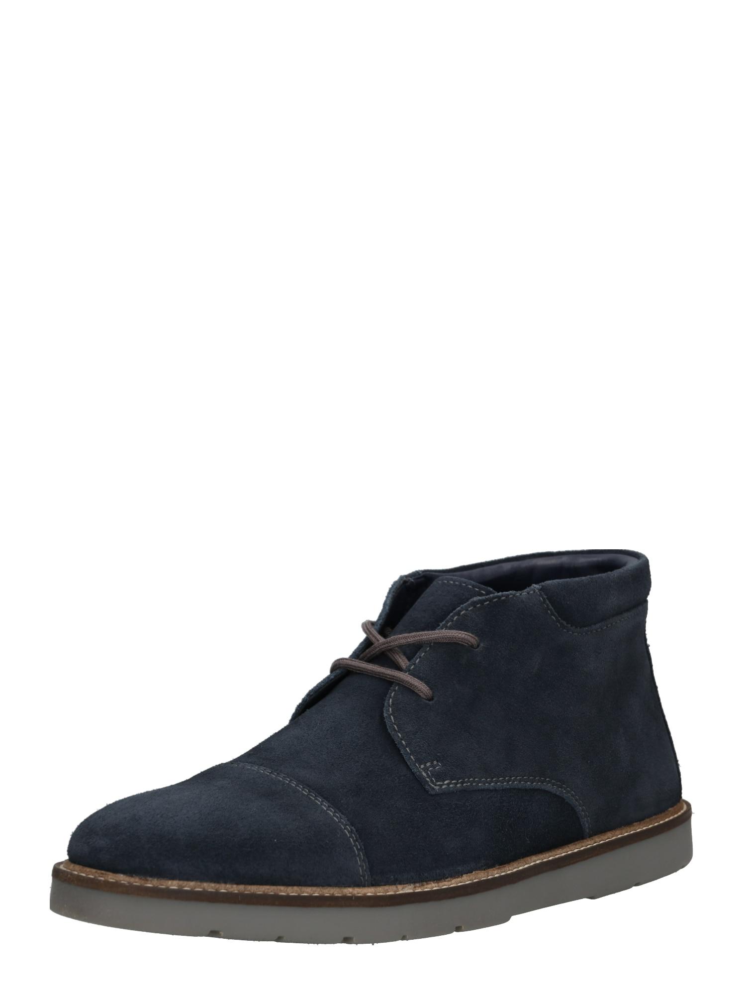 Šněrovací boty Grandin Top námořnická modř CLARKS