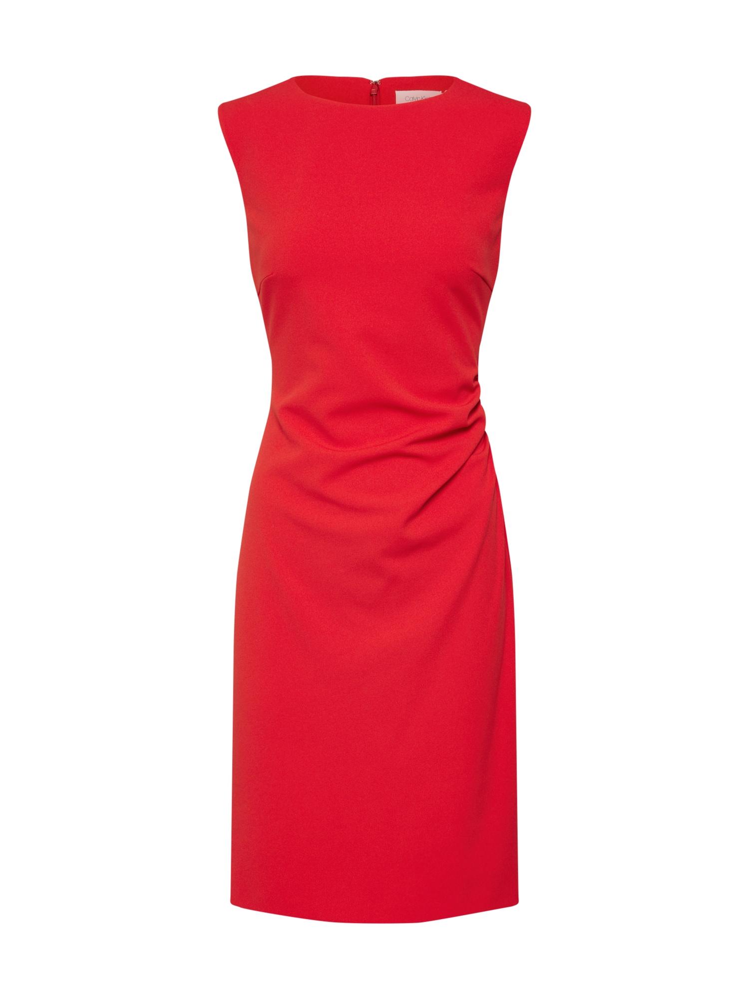 Pouzdrové šaty červená Calvin Klein